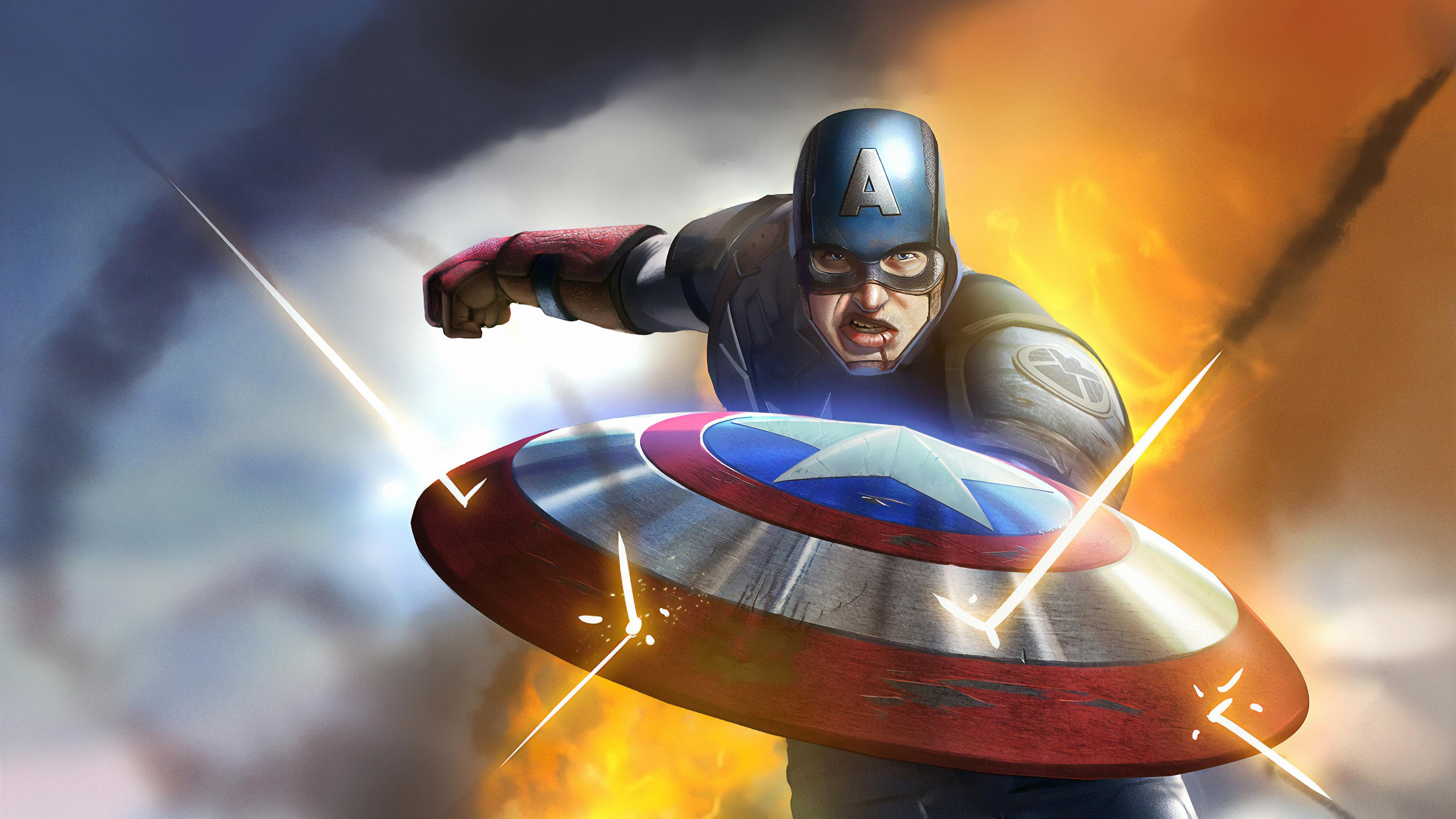 captain america coming 1570394655 - Captain America Coming - superheroes wallpapers, hd-wallpapers, deviantart wallpapers, captain america wallpapers, artwork wallpapers, 4k-wallpapers