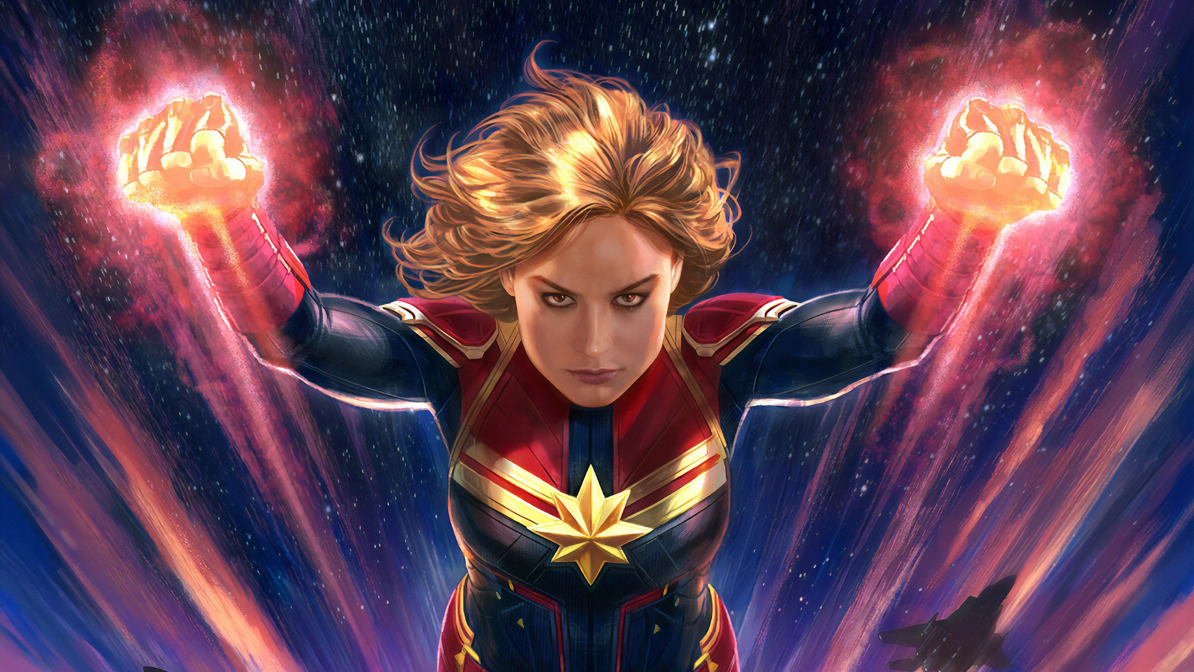 captain marvel arts 1570394277 - Captain Marvel Arts - superheroes wallpapers, hd-wallpapers, captain marvel wallpapers, artwork wallpapers, artstation wallpapers, art wallpapers, 4k-wallpapers
