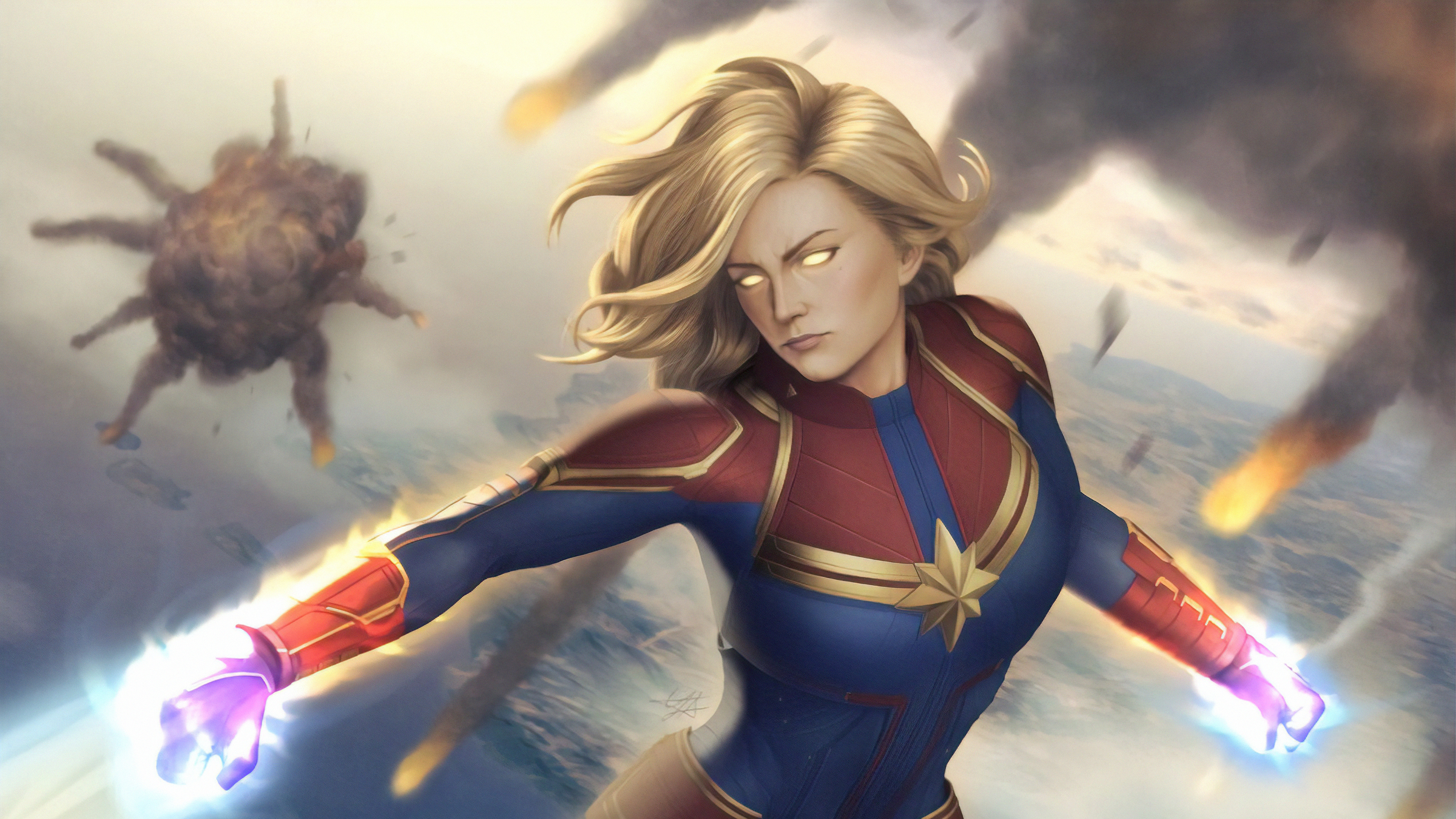 captain marvel new 1570394362 - Captain Marvel New - superheroes wallpapers, hd-wallpapers, captain marvel wallpapers, artwork wallpapers, art wallpapers, 4k-wallpapers