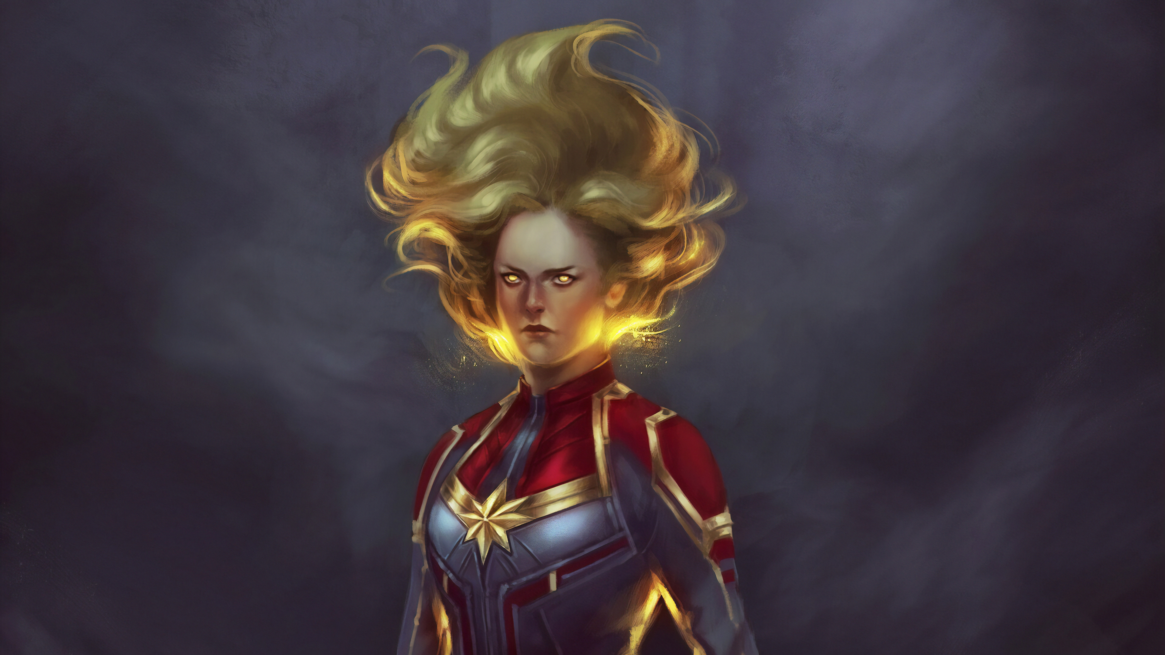 captain marvel newart 1570394687 - Captain Marvel Newart - superheroes wallpapers, hd-wallpapers, captain marvel wallpapers, artwork wallpapers, artstation wallpapers, art wallpapers, 4k-wallpapers