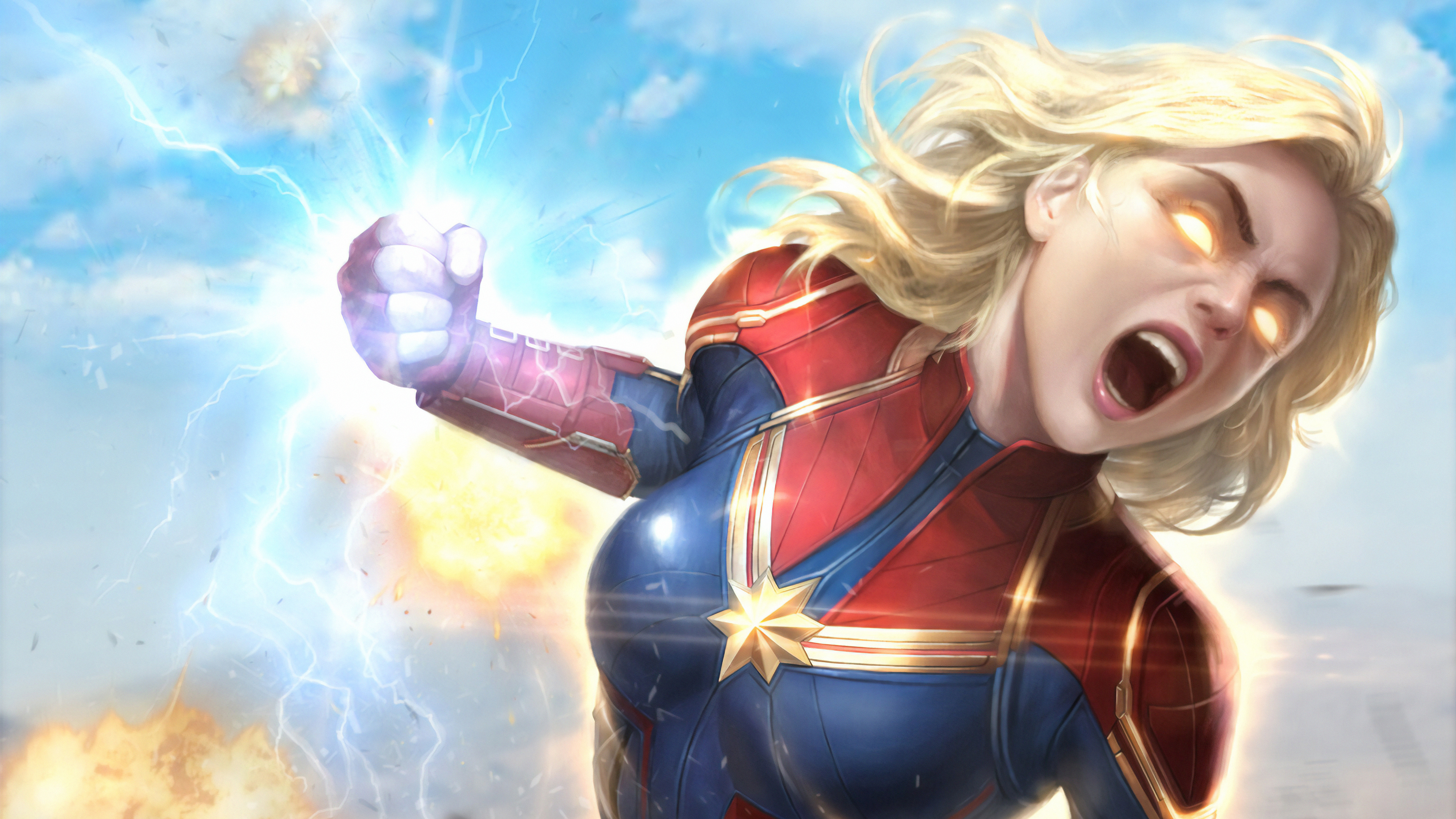 captain marvel newarts 1570394487 - Captain Marvel Newarts - superheroes wallpapers, hd-wallpapers, captain marvel wallpapers, artwork wallpapers, artstation wallpapers, art wallpapers, 4k-wallpapers