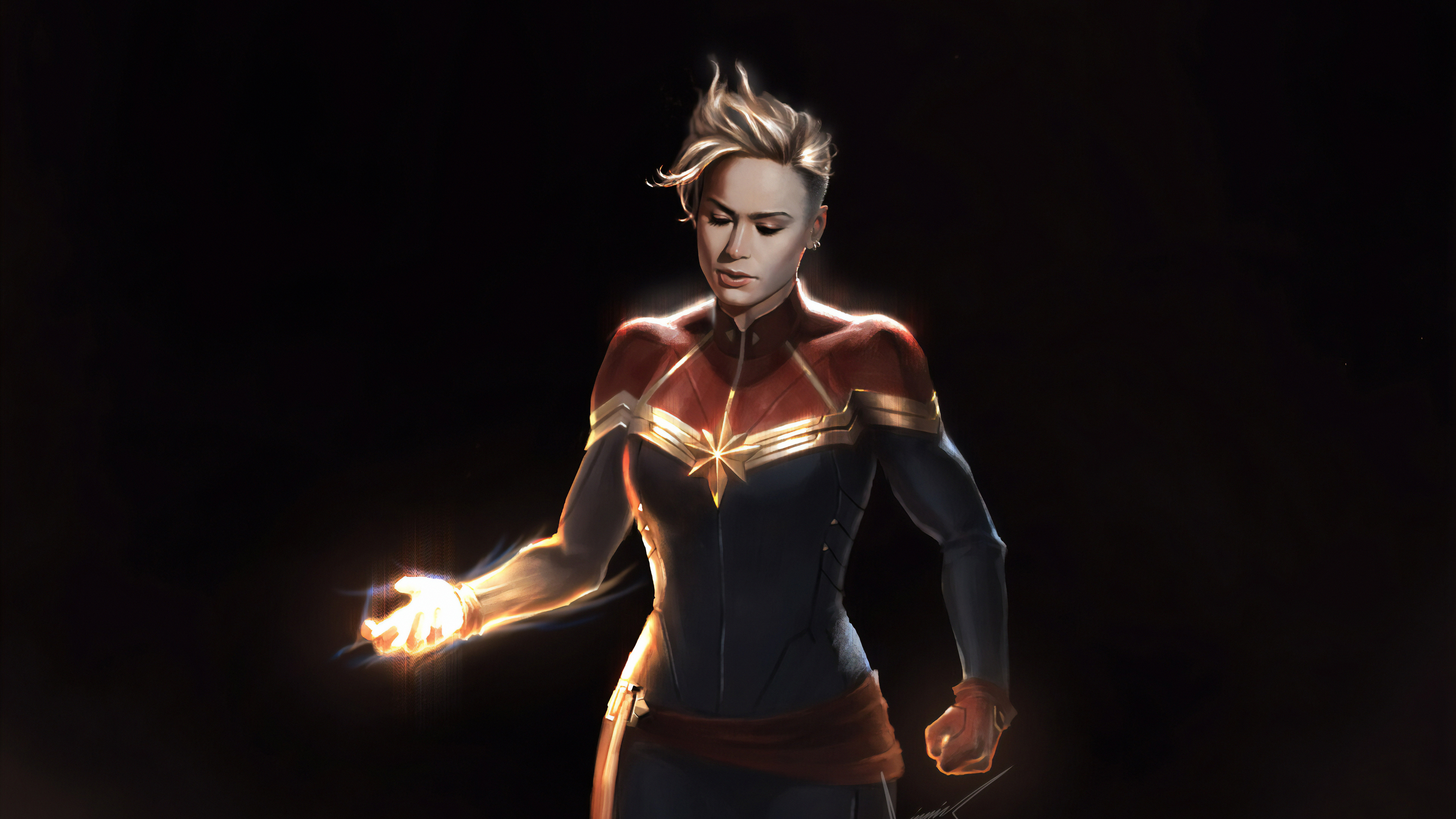 captain marvel sketch art 1570394463 - Captain Marvel Sketch Art - superheroes wallpapers, hd-wallpapers, captain marvel wallpapers, artwork wallpapers, artstation wallpapers, art wallpapers, 4k-wallpapers