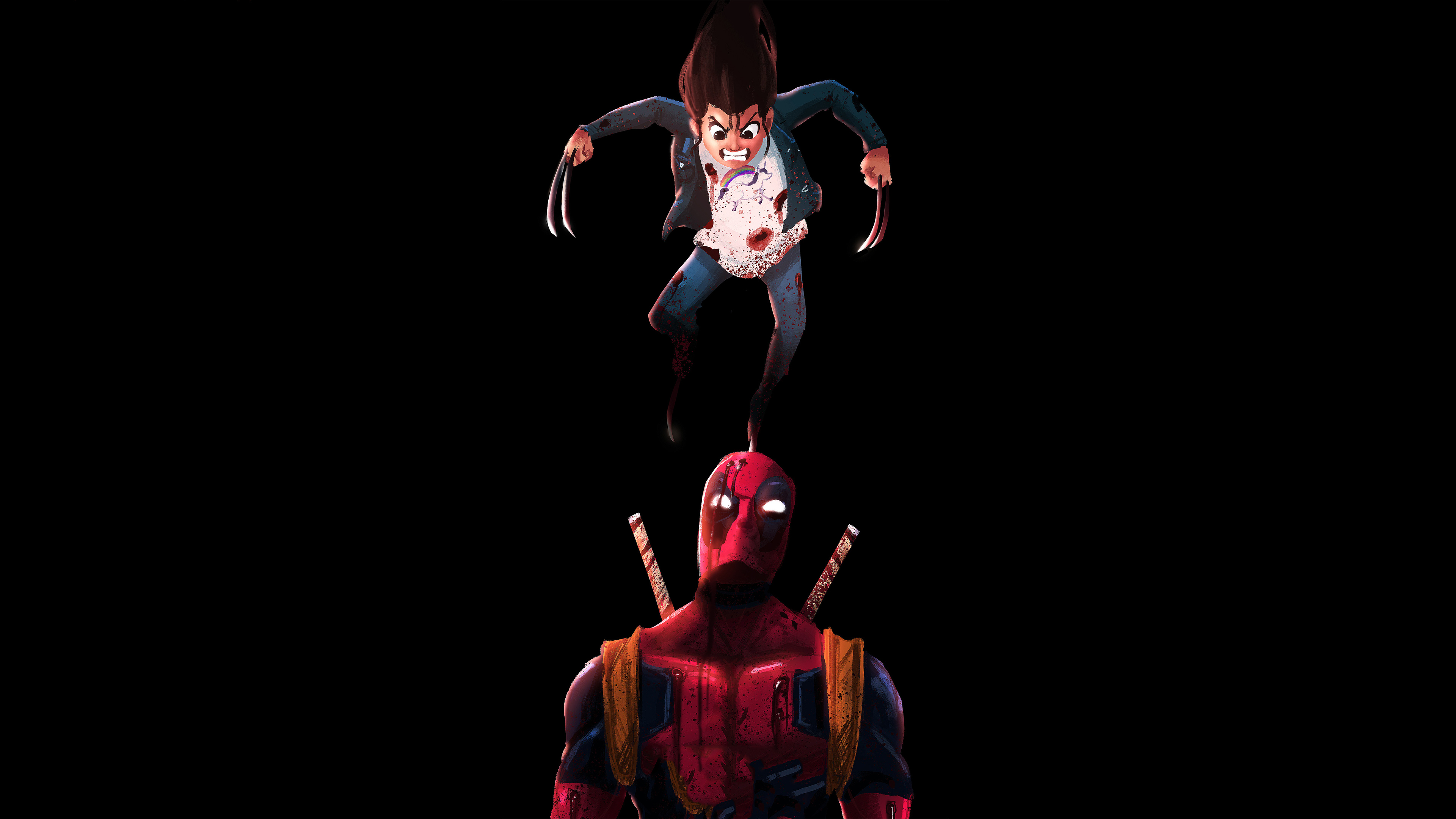 deadpool and x23 1570918463 - Deadpool And X23 - x23 wallpapers, superheroes wallpapers, hd-wallpapers, digital art wallpapers, deadpool wallpapers, artwork wallpapers, artstation wallpapers, artist wallpapers, 4k-wallpapers