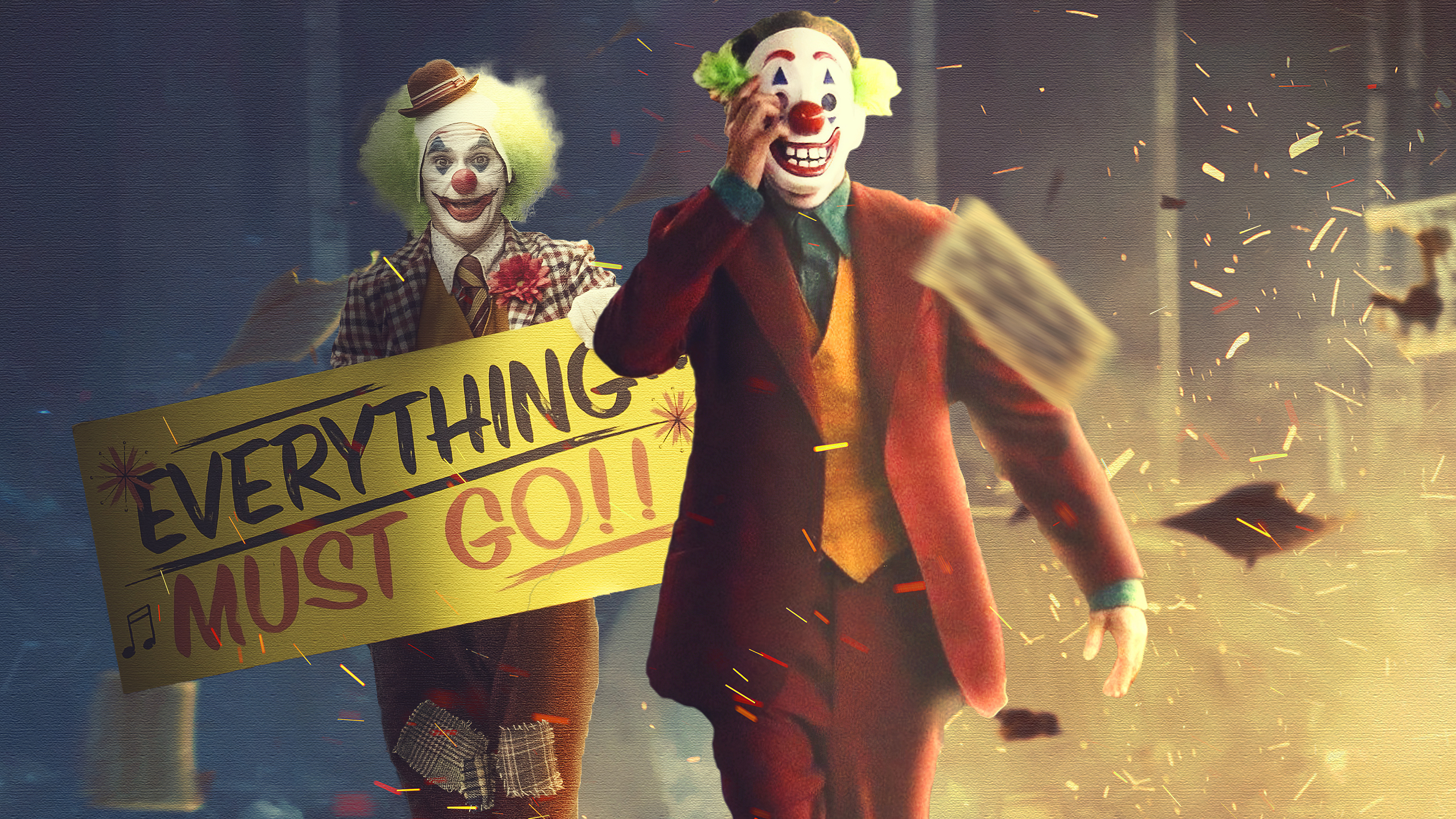 everything must go 1572368986 - Everything Must Go - superheroes wallpapers, joker wallpapers, hd-wallpapers, digital art wallpapers, behance wallpapers, artwork wallpapers, artist wallpapers, 4k-wallpapers