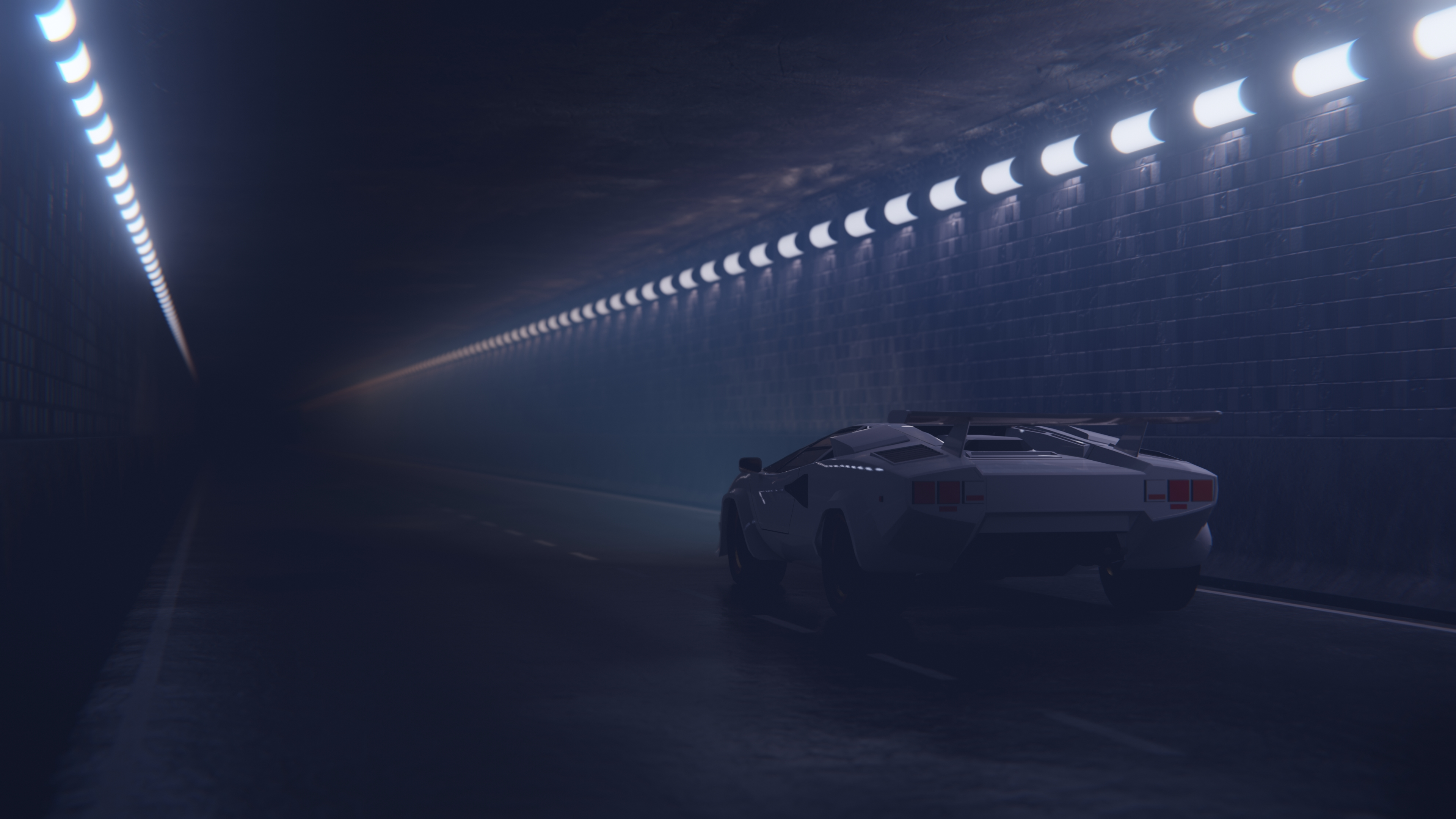 foggy tunnel lamborghini 1570919174 - Foggy Tunnel Lamborghini - lamborghini wallpapers, hd-wallpapers, digital art wallpapers, deviantart wallpapers, cars wallpapers, artwork wallpapers, artist wallpapers, 4k-wallpapers