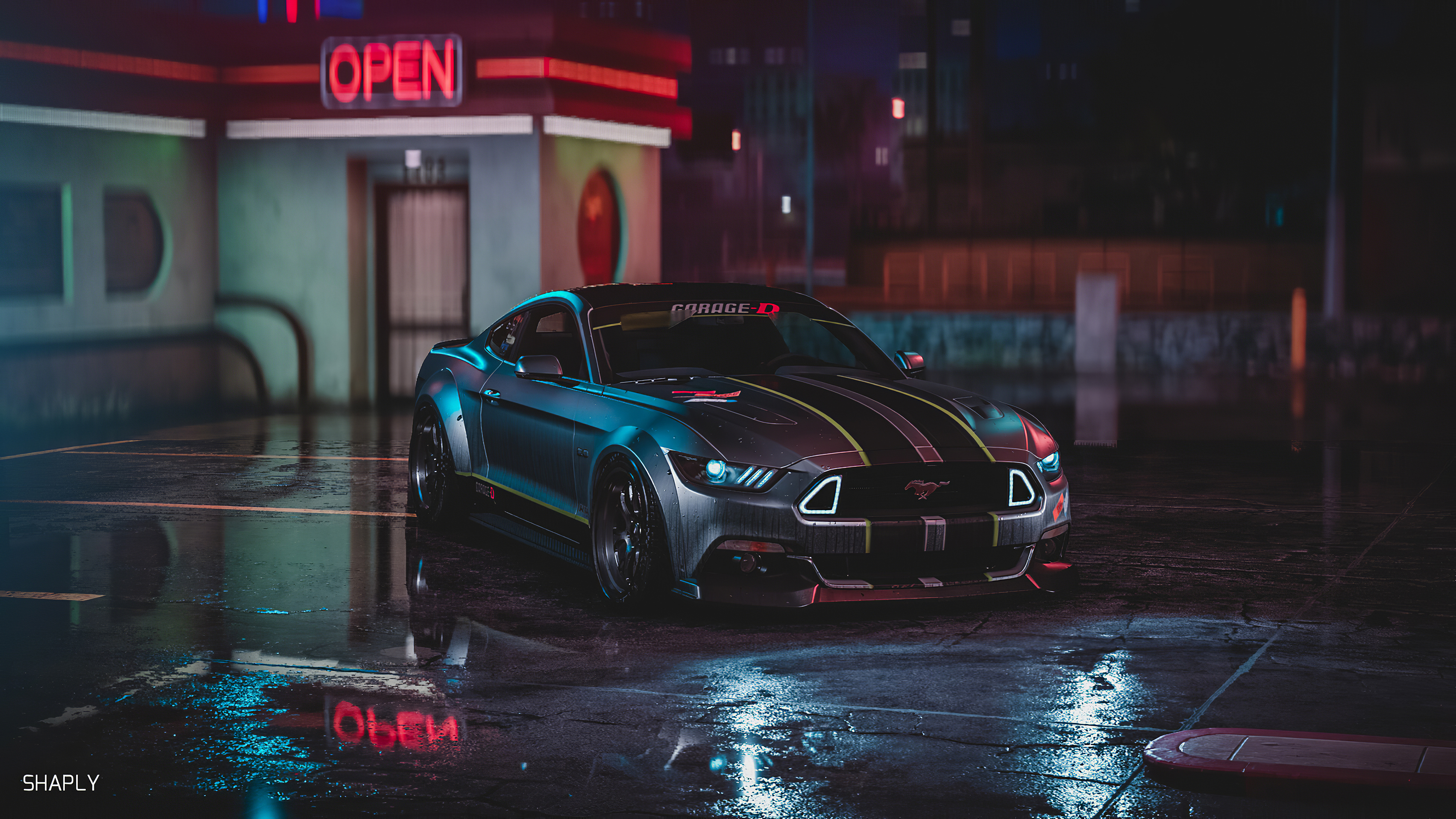 ford mustang gt neon harmony 1570919171 - Ford Mustang Gt Neon Harmony - hd-wallpapers, ford wallpapers, ford mustang wallpapers, cars wallpapers, artstation wallpapers, 4k-wallpapers
