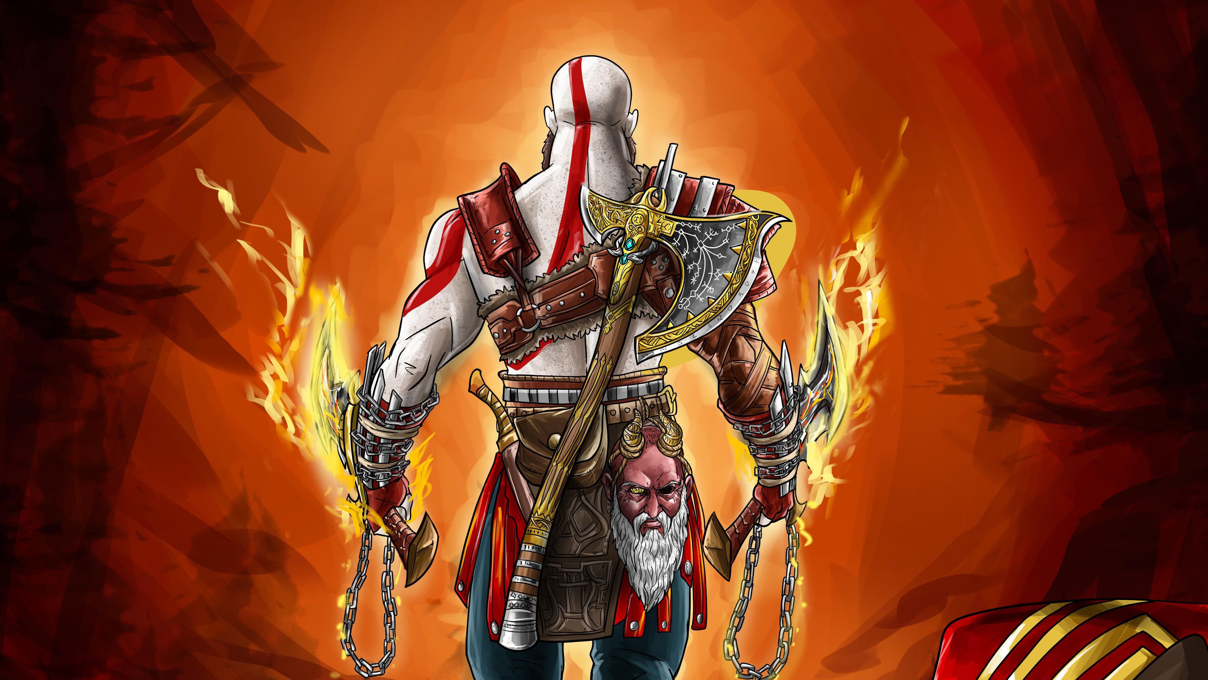 Wallpaper 4k God Of War 4 Digital Art 4k Wallpapers Games