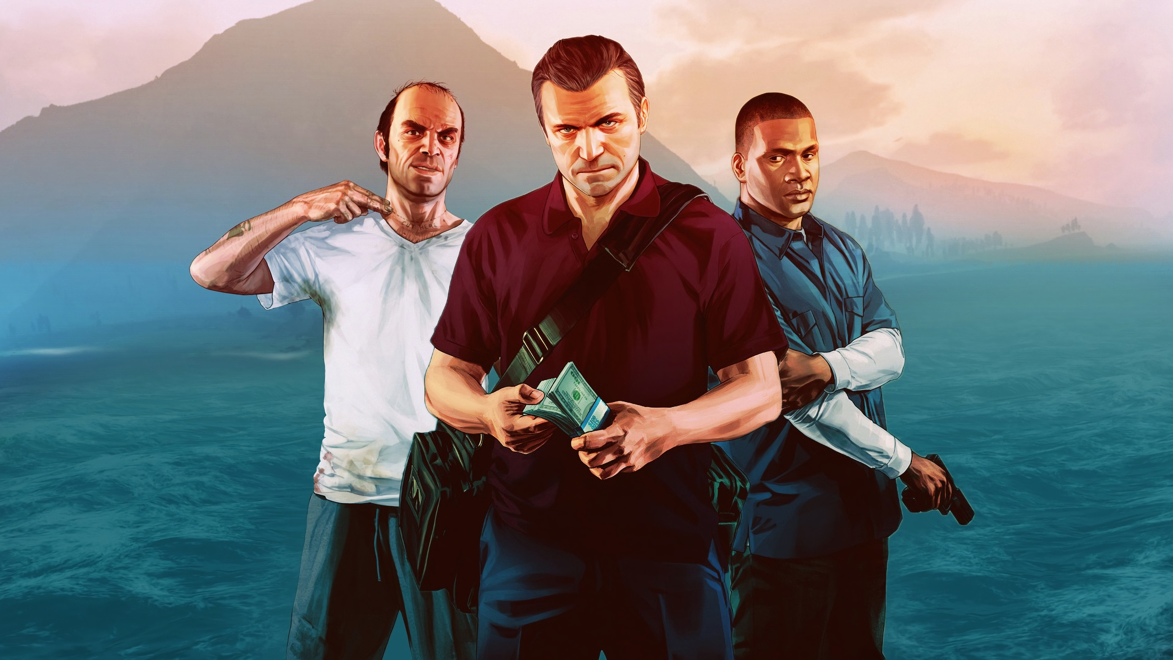 Wallpaper 4k Gta V Trevor Franklin Michael 4k Wallpapers