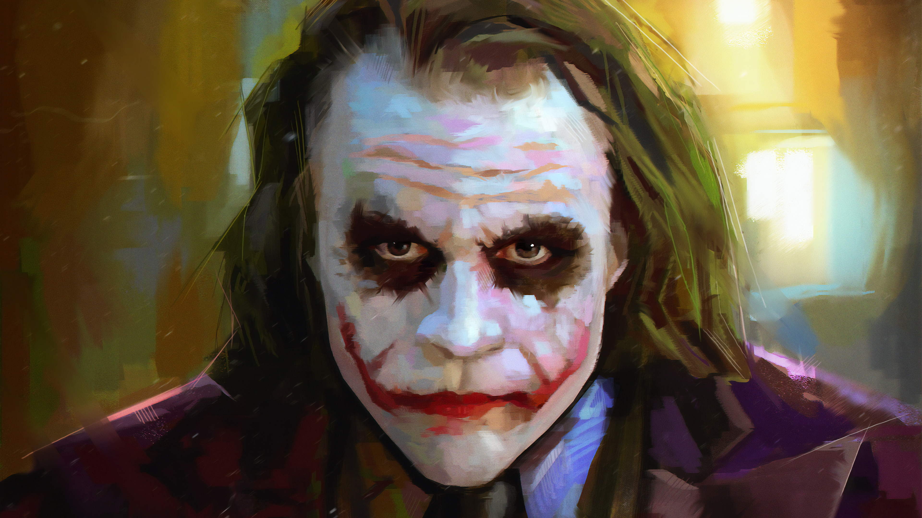 heath ledger as joker 1570394682 - Heath Ledger As Joker - supervillain wallpapers, superheroes wallpapers, joker wallpapers, hd-wallpapers, deviantart wallpapers, 4k-wallpapers