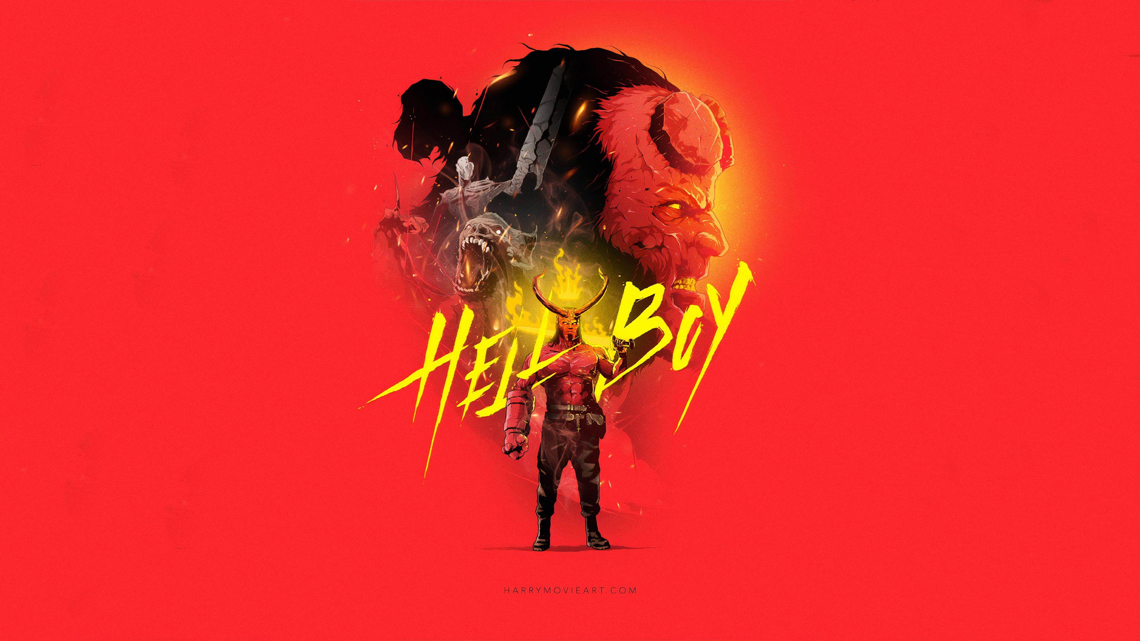hellboy 2019 art 1570918570 - Hellboy 2019 art - superheroes wallpapers, hellboy wallpapers, hd-wallpapers, digital art wallpapers, artwork wallpapers, art wallpapers, 4k-wallpapers