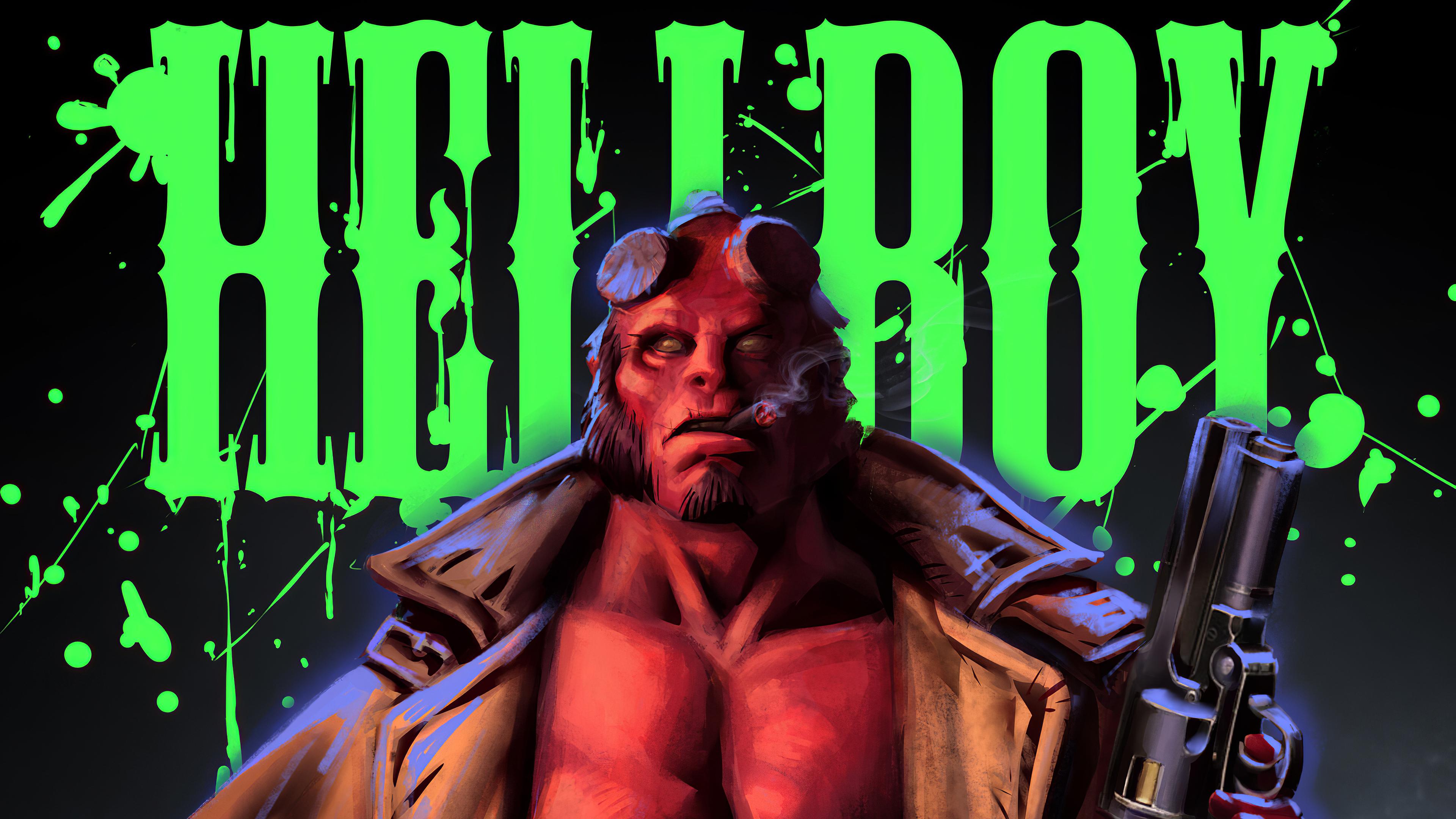 hellboy 1570918645 - Hellboy - superheroes wallpapers, hellboy wallpapers, hd-wallpapers, digital art wallpapers, artwork wallpapers, artstation wallpapers, artist wallpapers, 4k-wallpapers