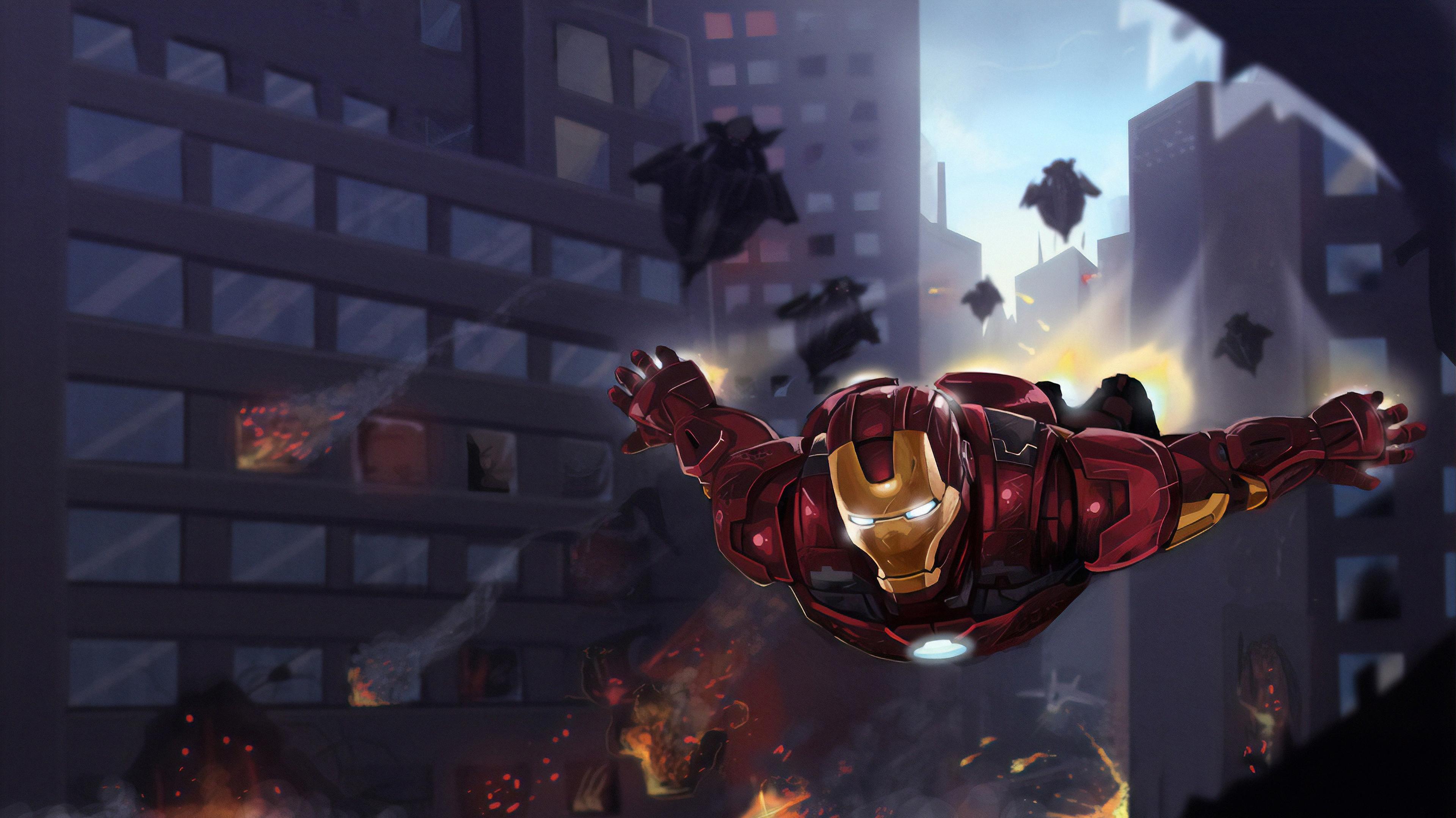 iron man coming 1570394366 - Iron Man Coming - superheroes wallpapers, iron man wallpapers, hd-wallpapers, digital art wallpapers, deviantart wallpapers, artwork wallpapers, 4k-wallpapers