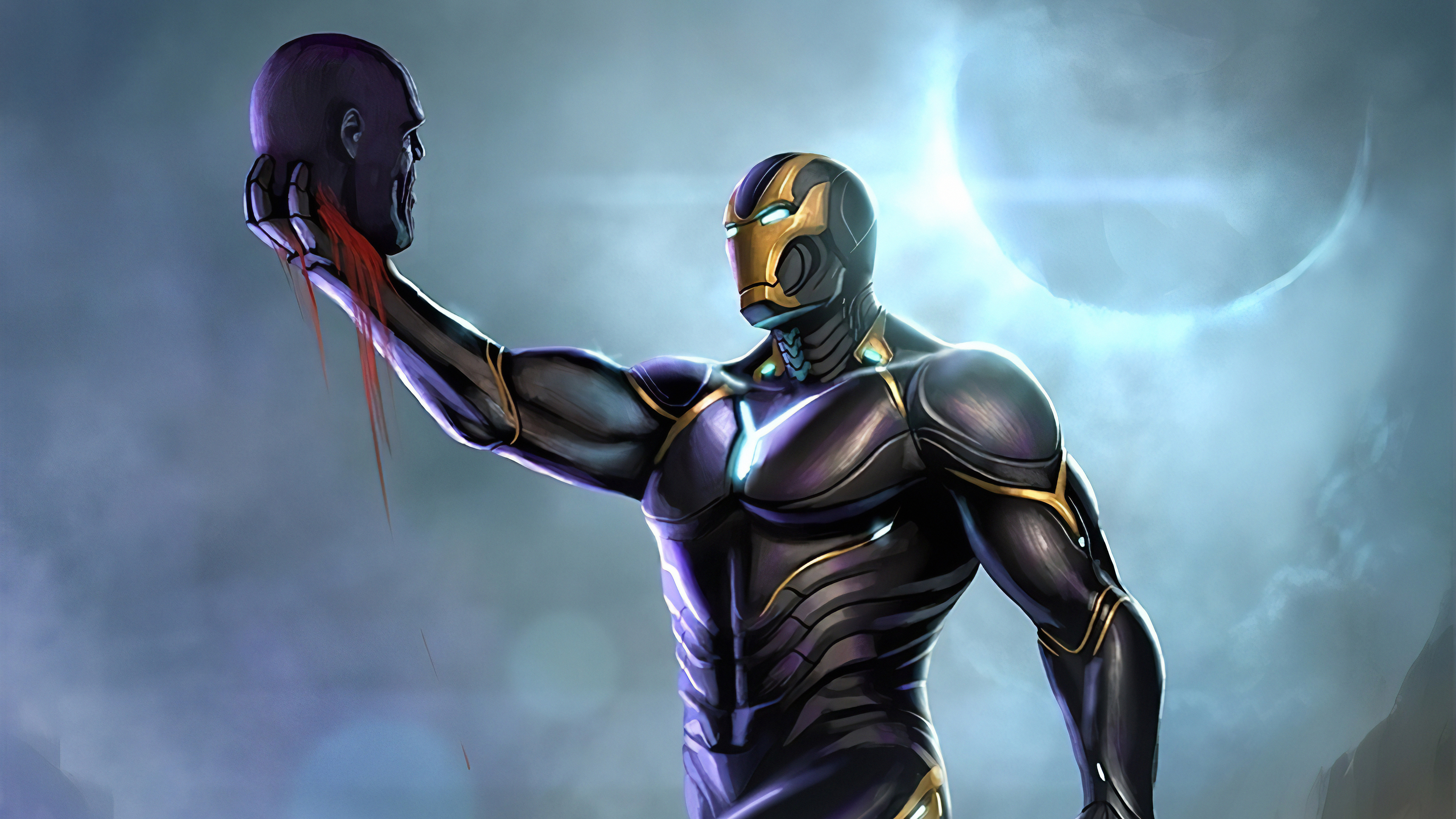 iron man thanos head 1572368612 - Iron Man Thanos Head - superheroes wallpapers, iron man wallpapers, hd-wallpapers, digital art wallpapers, artwork wallpapers, 4k-wallpapers