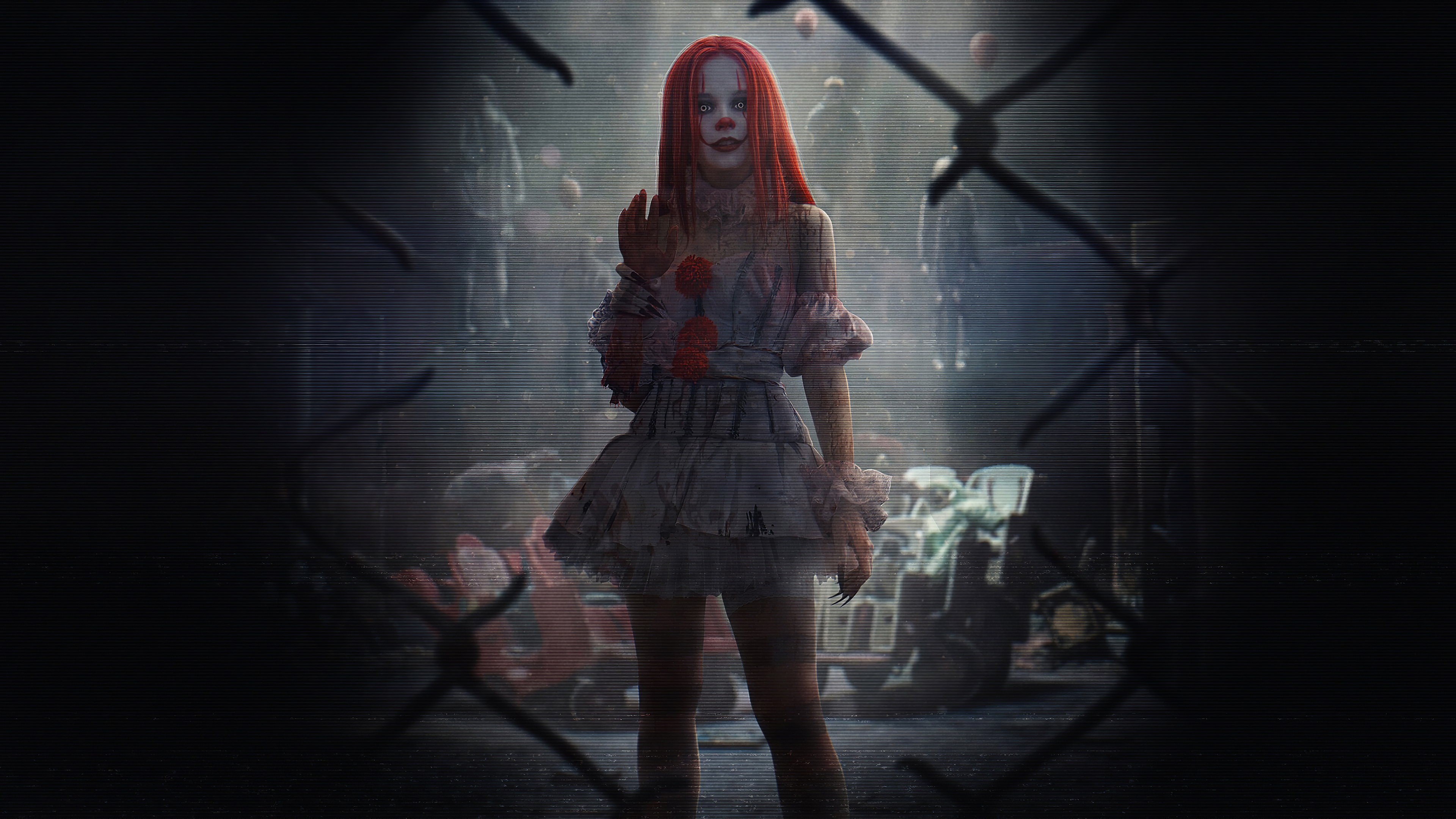 it clown girl 1572370985 - It Clown Girl - pennywise wallpapers, movies wallpapers, it wallpapers, hd-wallpapers, clown wallpapers, 4k-wallpapers