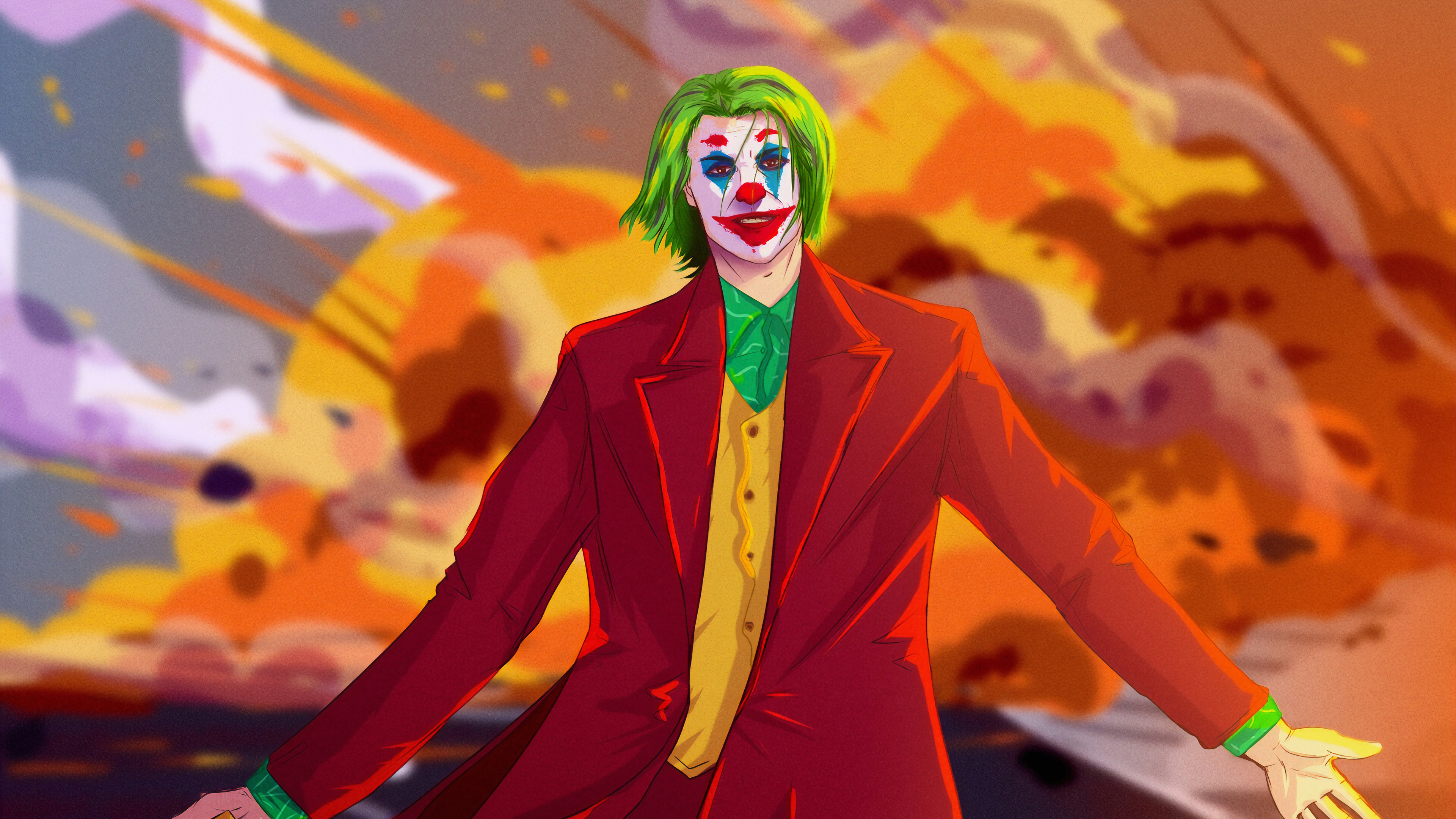 joker destruction 1570394458 - Joker Destruction - superheroes wallpapers, joker wallpapers, hd-wallpapers, dc comics wallpapers, artstation wallpapers, 4k-wallpapers