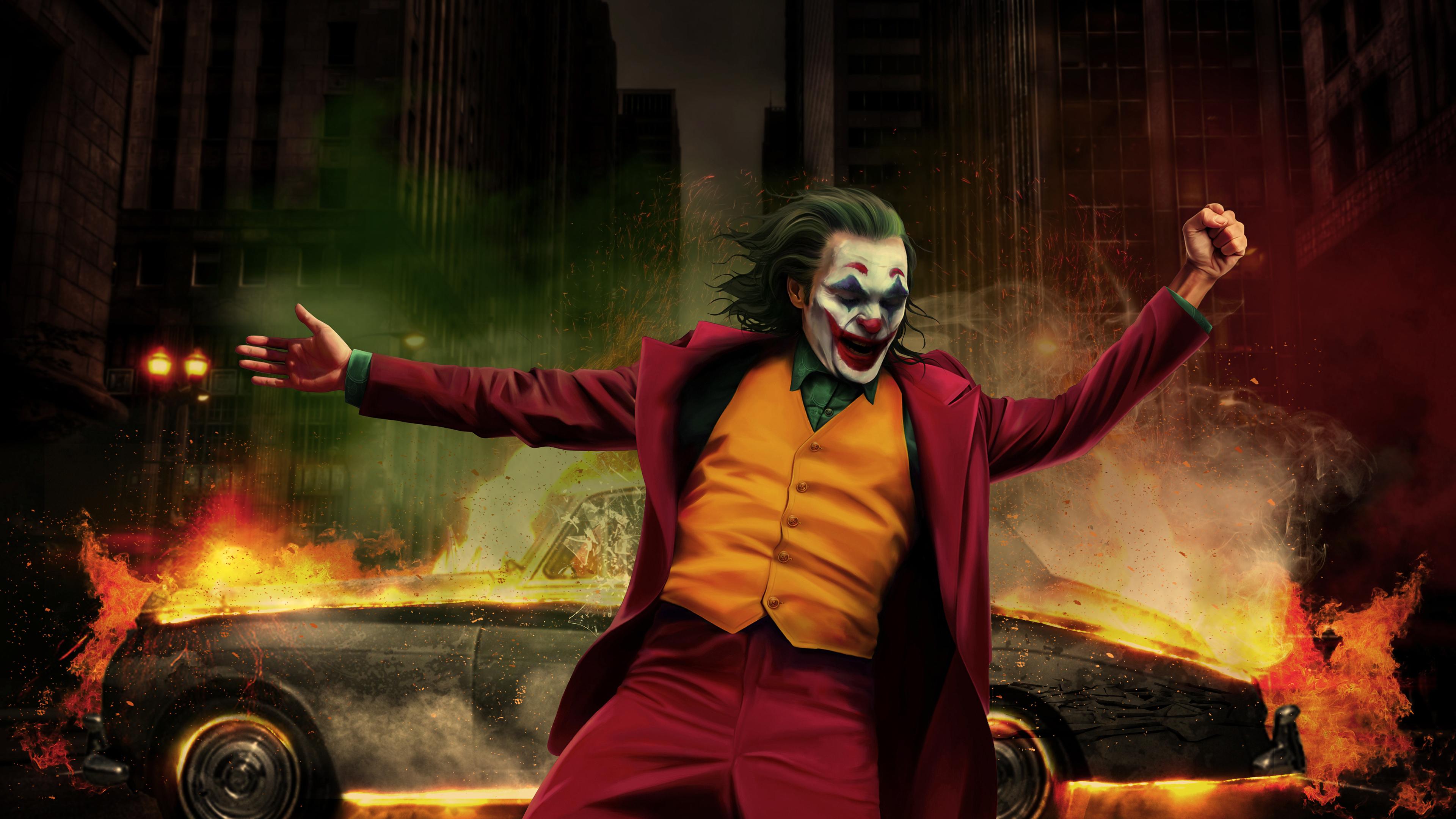 Wallpaper 4k Joker Happy Dancing 4k Wallpapers Hd