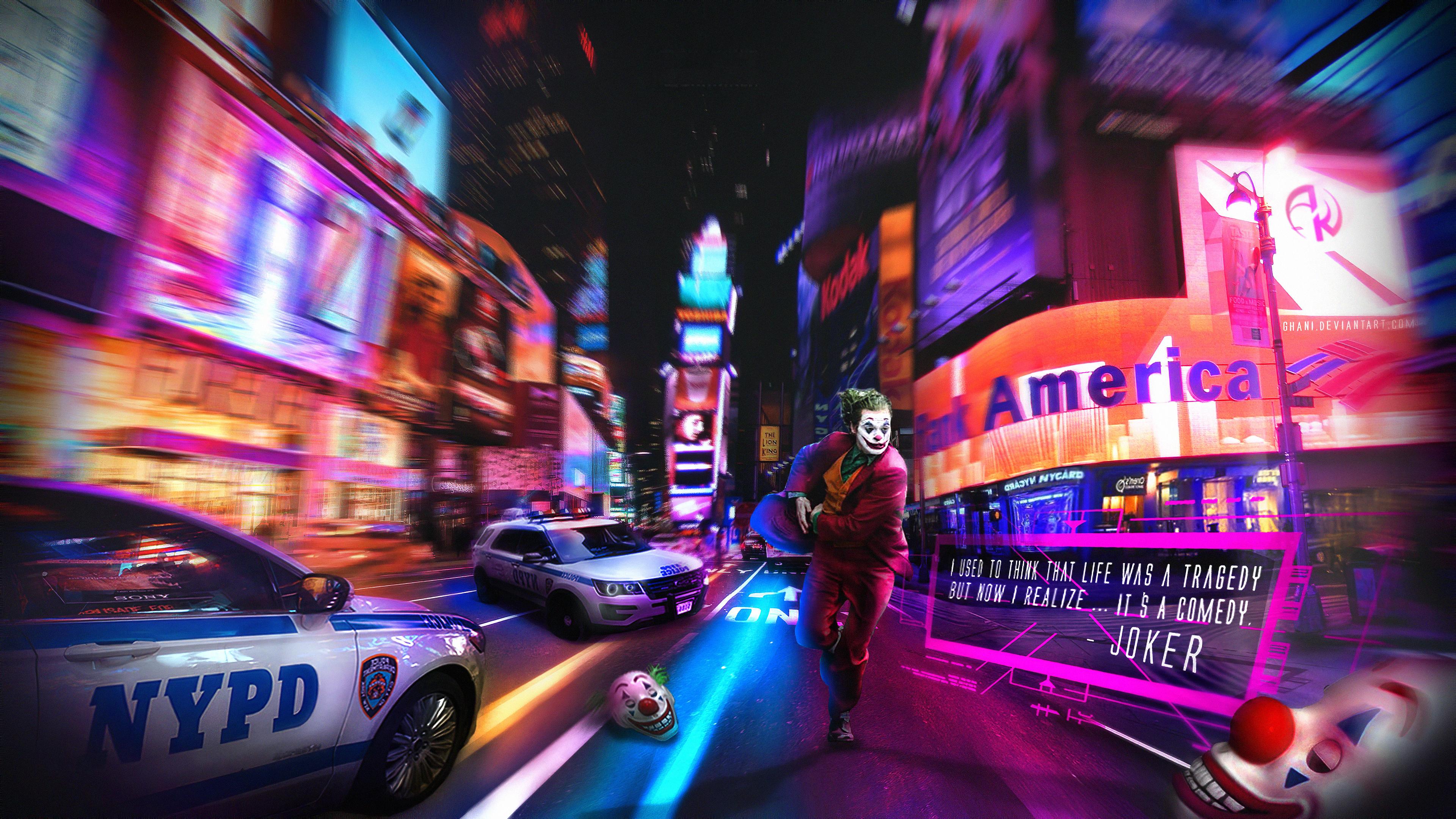 joker running away 1572368602 - Joker Running Away - supervillain wallpapers, superheroes wallpapers, joker wallpapers, joker movie wallpapers, hd-wallpapers, 4k-wallpapers