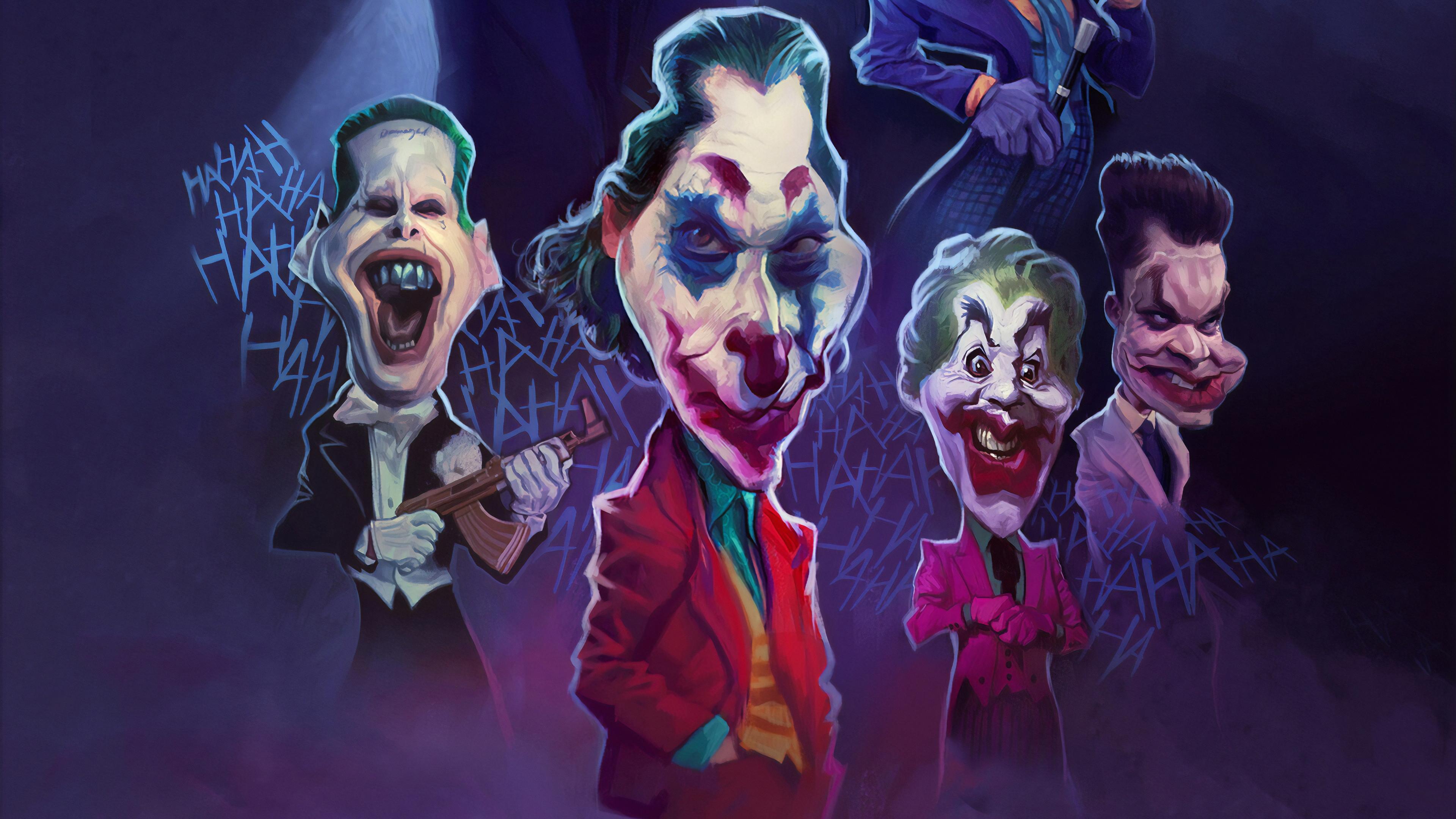 joker weird face art 1570394002 - Joker Weird Face Art - superheroes wallpapers, joker wallpapers, hd-wallpapers, dc comics wallpapers, batman wallpapers, artstation wallpapers, 4k-wallpapers