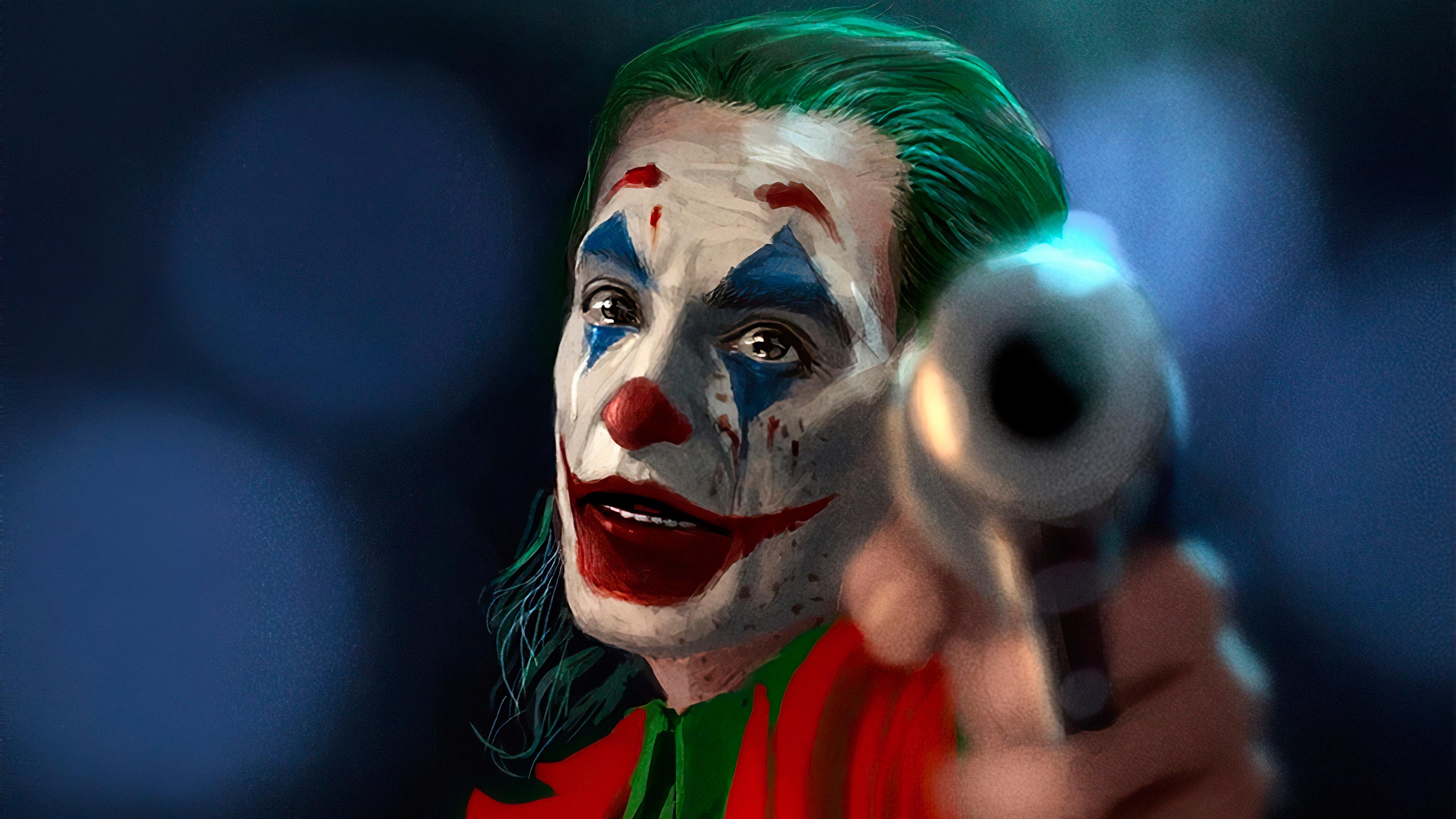 joker with gun 1572368610 - Joker With Gun - supervillain wallpapers, superheroes wallpapers, joker wallpapers, joker movie wallpapers, hd-wallpapers, 4k-wallpapers