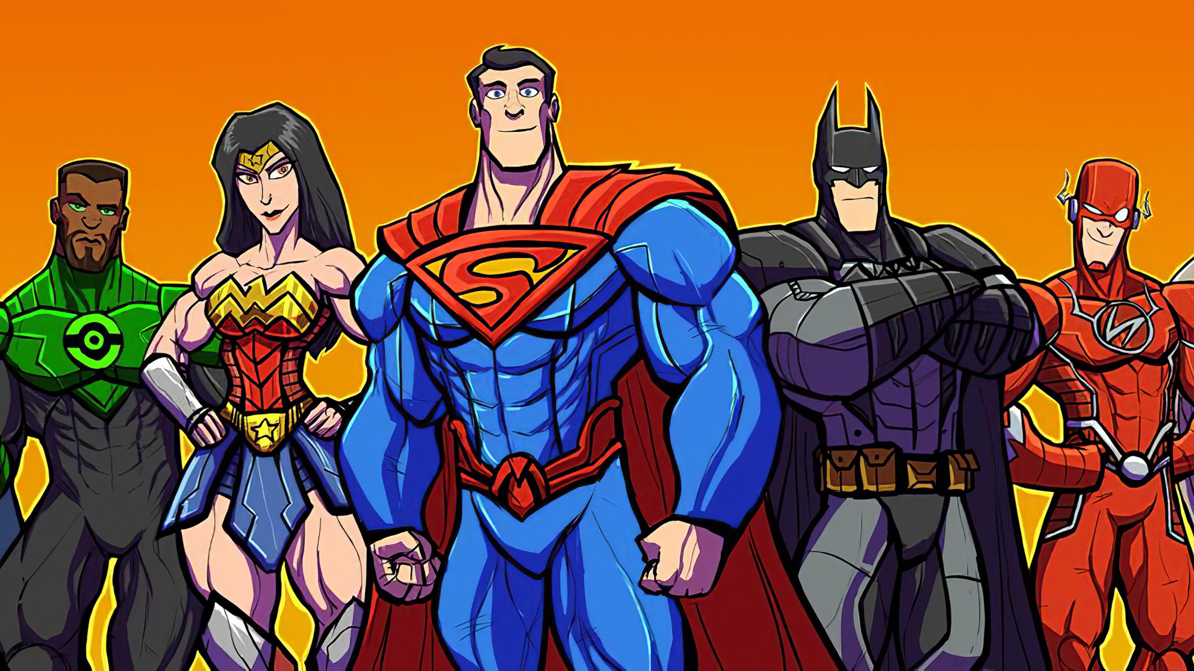 Justice League Heroes Cartoons superheroes wallpapers ...