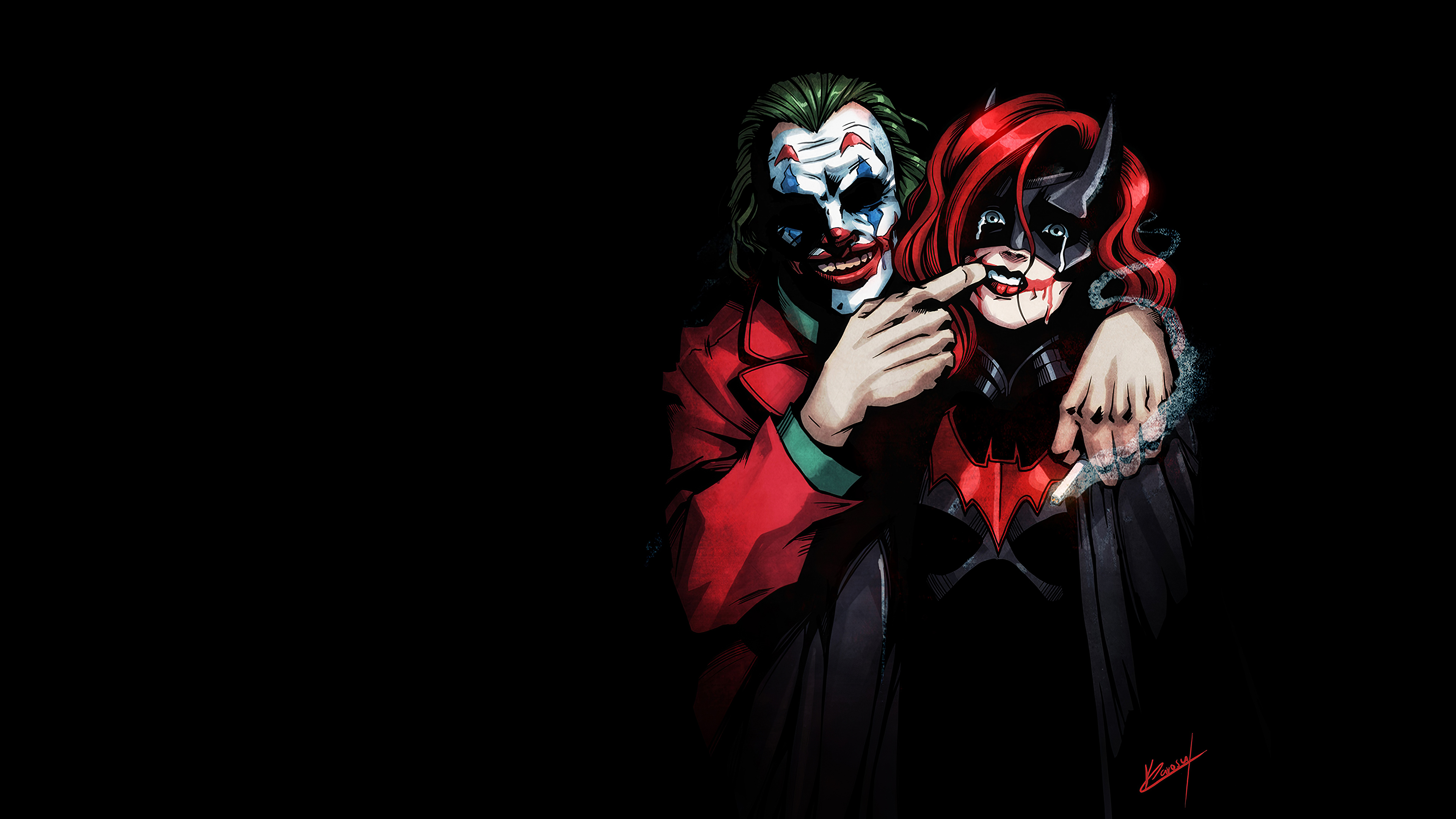 keep smiling 1572369008 - Keep Smiling - supervillain wallpapers, superheroes wallpapers, joker wallpapers, hd-wallpapers, deviantart wallpapers, batgirl wallpapers, 4k-wallpapers