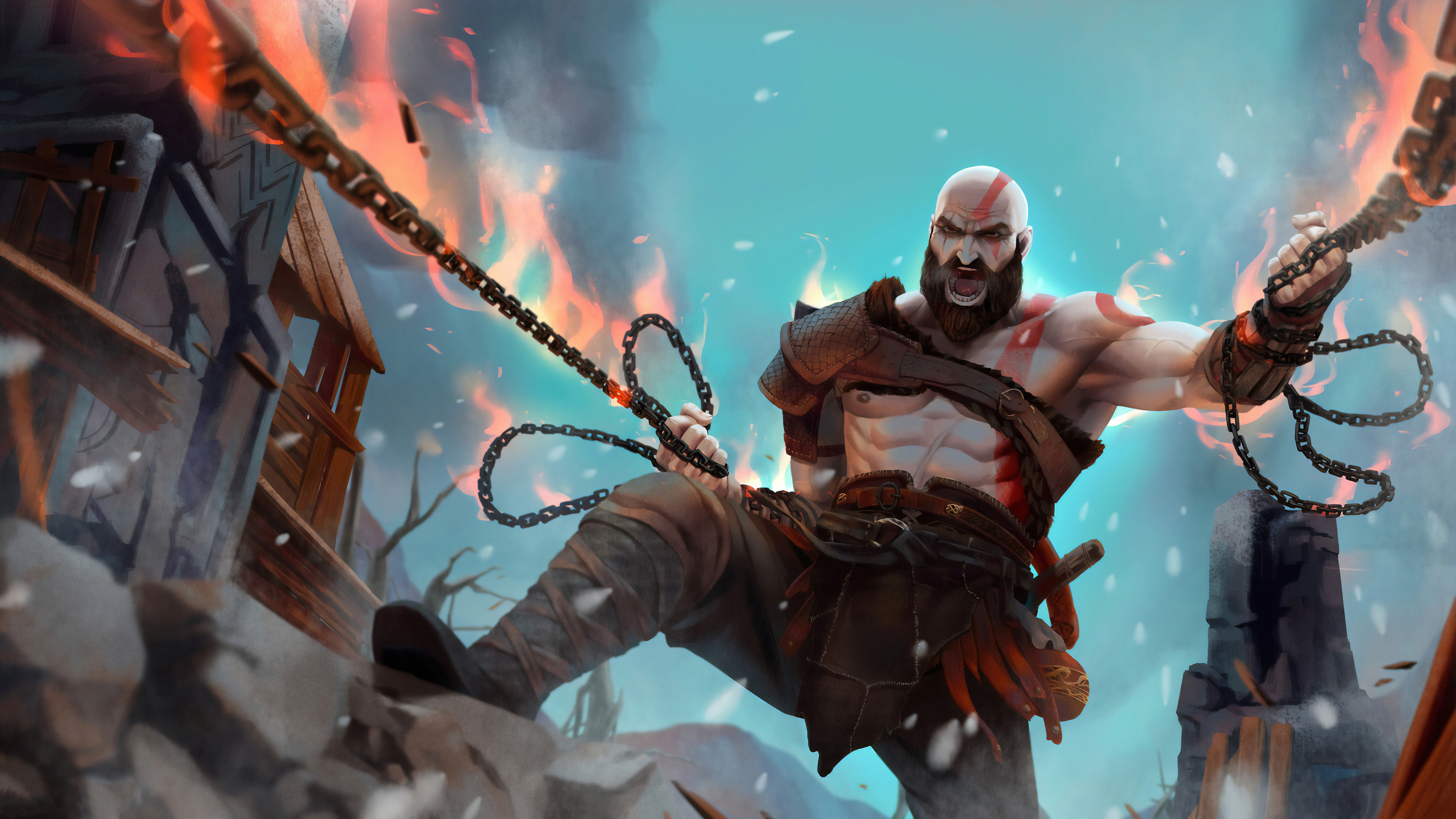 kratos artwork new 1572369943 - Kratos Artwork New - kratos wallpapers, hd-wallpapers, god of war wallpapers, digital art wallpapers, artwork wallpapers, artstation wallpapers, 4k-wallpapers