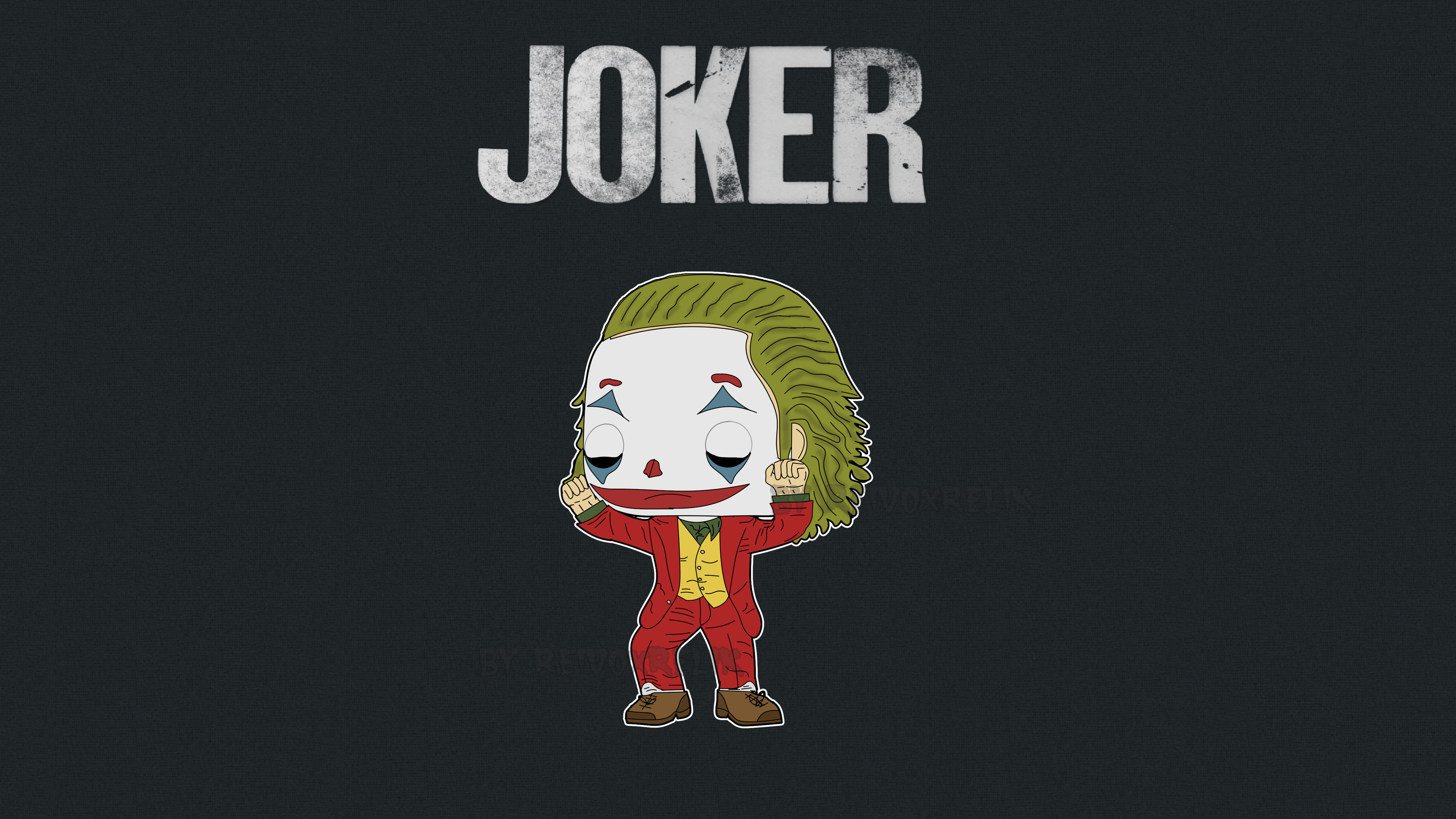 little joker minimalist 1572368478 - Little Joker Minimalist - supervillain wallpapers, superheroes wallpapers, joker wallpapers, hd-wallpapers, 5k wallpapers, 4k-wallpapers