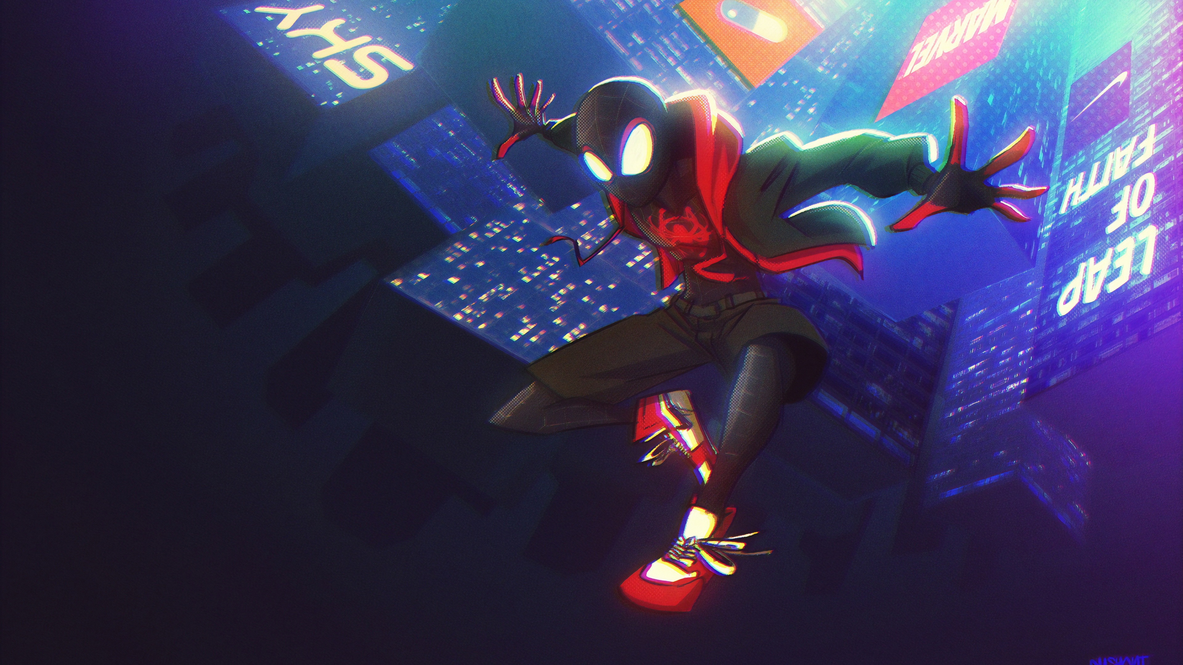 miles on the way 1572368508 - Miles On The Way - superheroes wallpapers, spiderman wallpapers, hd-wallpapers, digital art wallpapers, artwork wallpapers, artstation wallpapers, art wallpapers, 4k-wallpapers