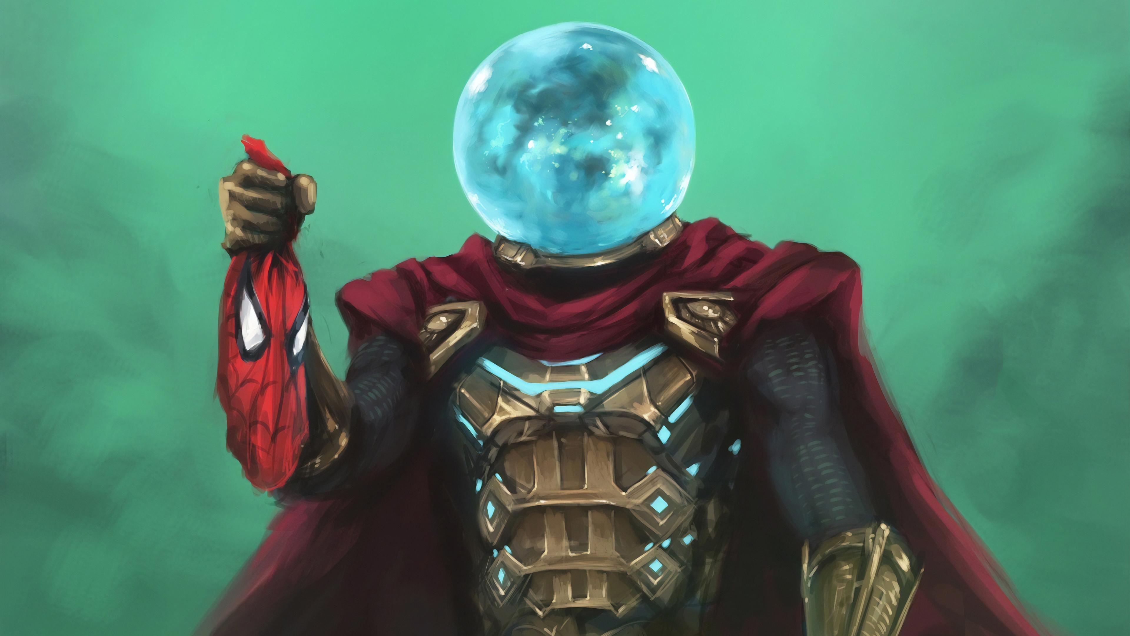 mysterio hand on spiderman mask 1572368681 - Mysterio Hand On Spiderman Mask - superheroes wallpapers, mysterio wallpapers, hd-wallpapers, artwork wallpapers, 4k-wallpapers