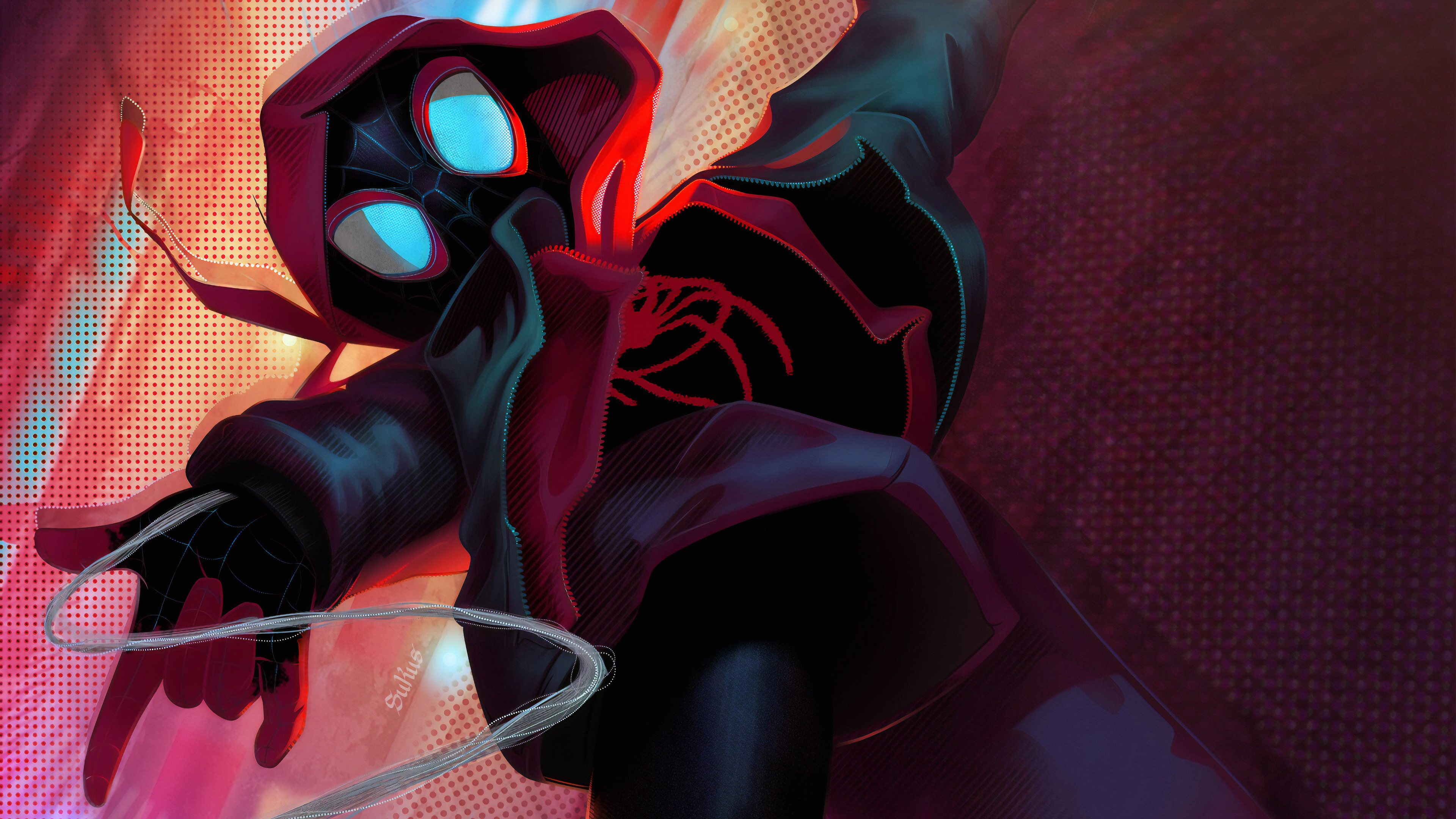 new miles spider 1572368220 - New Miles Spider - superheroes wallpapers, spiderman wallpapers, hd-wallpapers, digital art wallpapers, artwork wallpapers, artstation wallpapers, art wallpapers, 4k-wallpapers