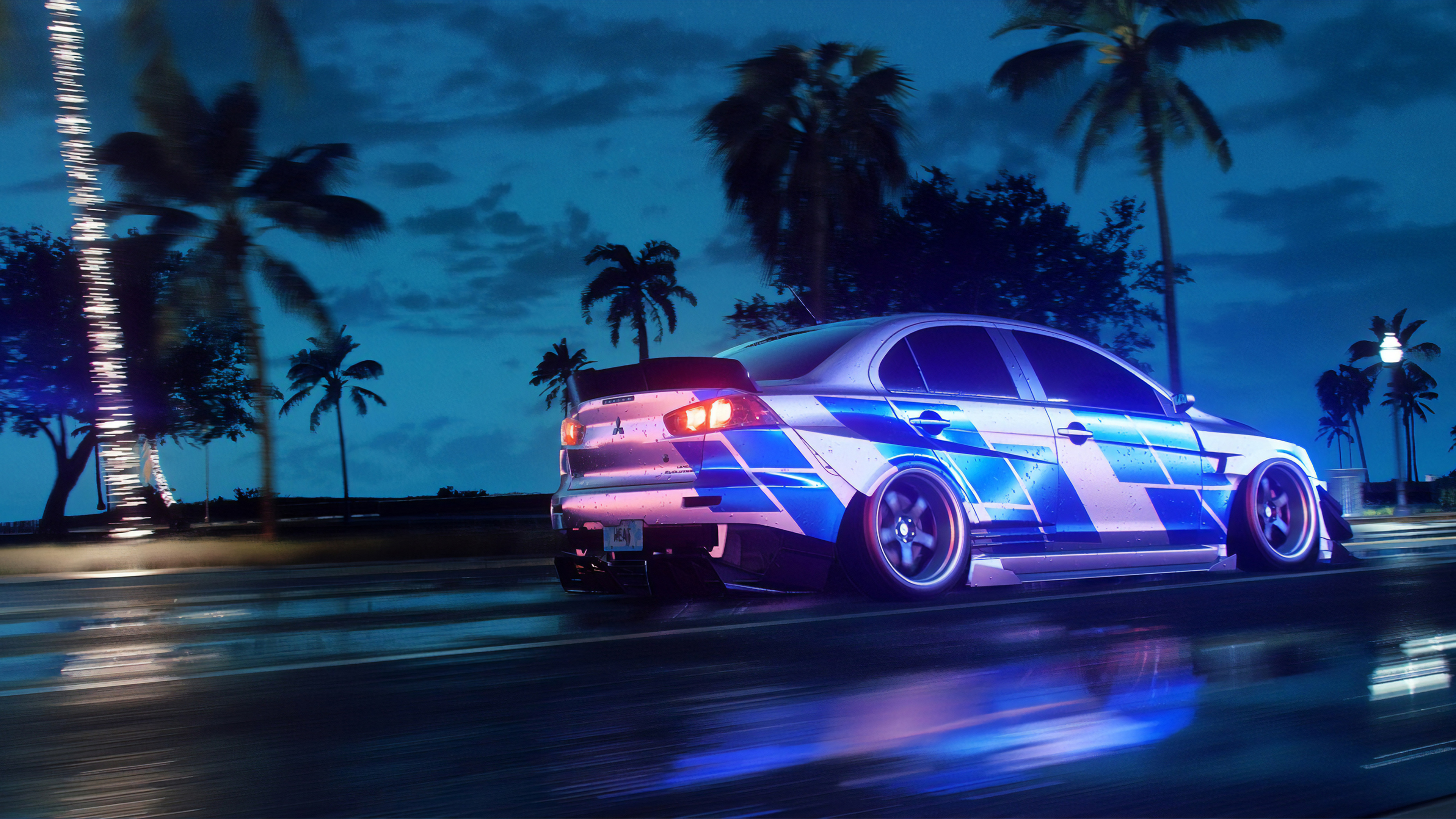 Wallpaper 4k Nfs Heat Mitsubishi Lancer 4k Wallpapers Artstation Wallpapers Games Wallpapers Hd Wallpapers Need
