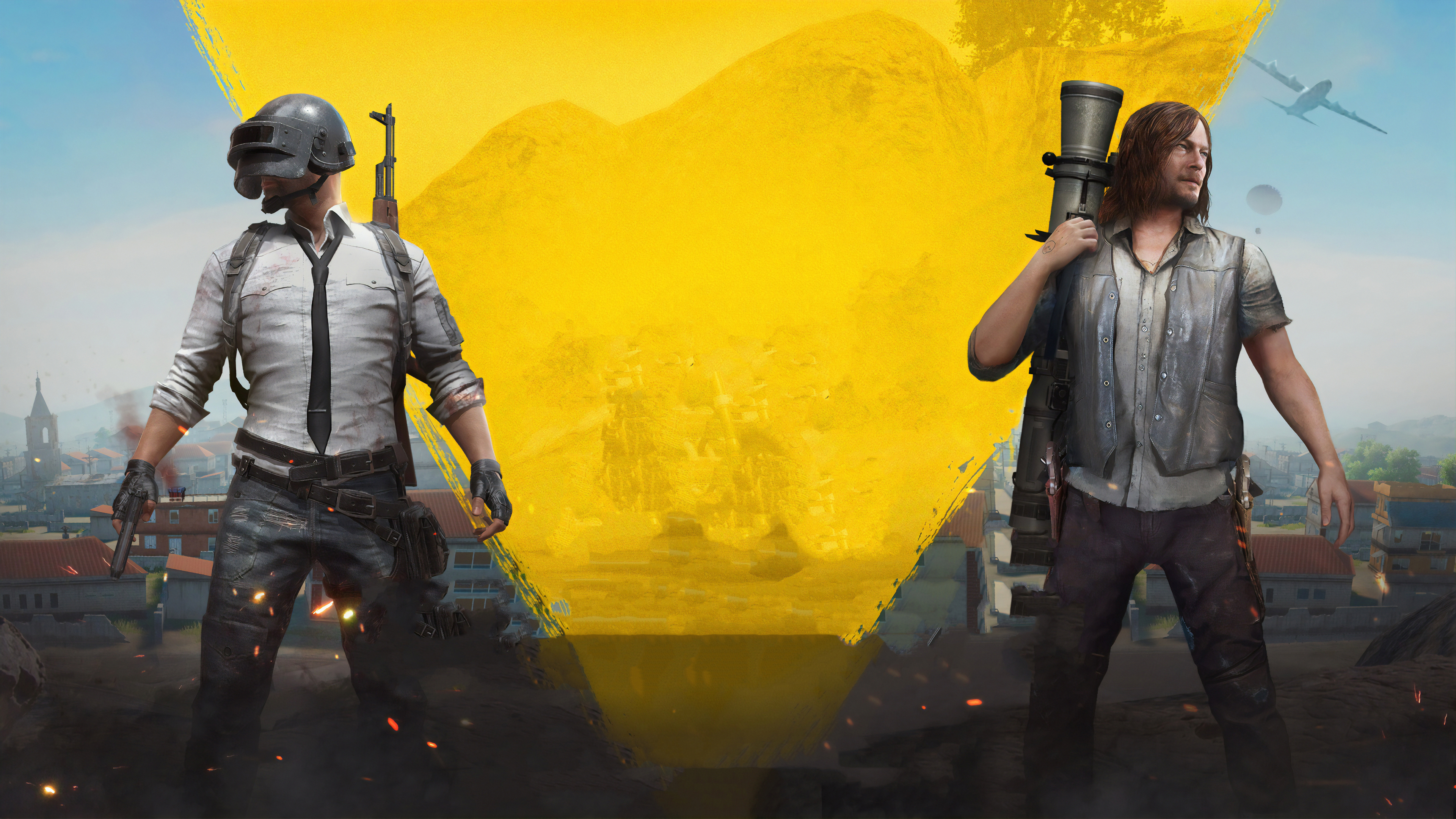 Wallpaper 4k Pubg And The Walking Dead 2018 Games Wallpapers