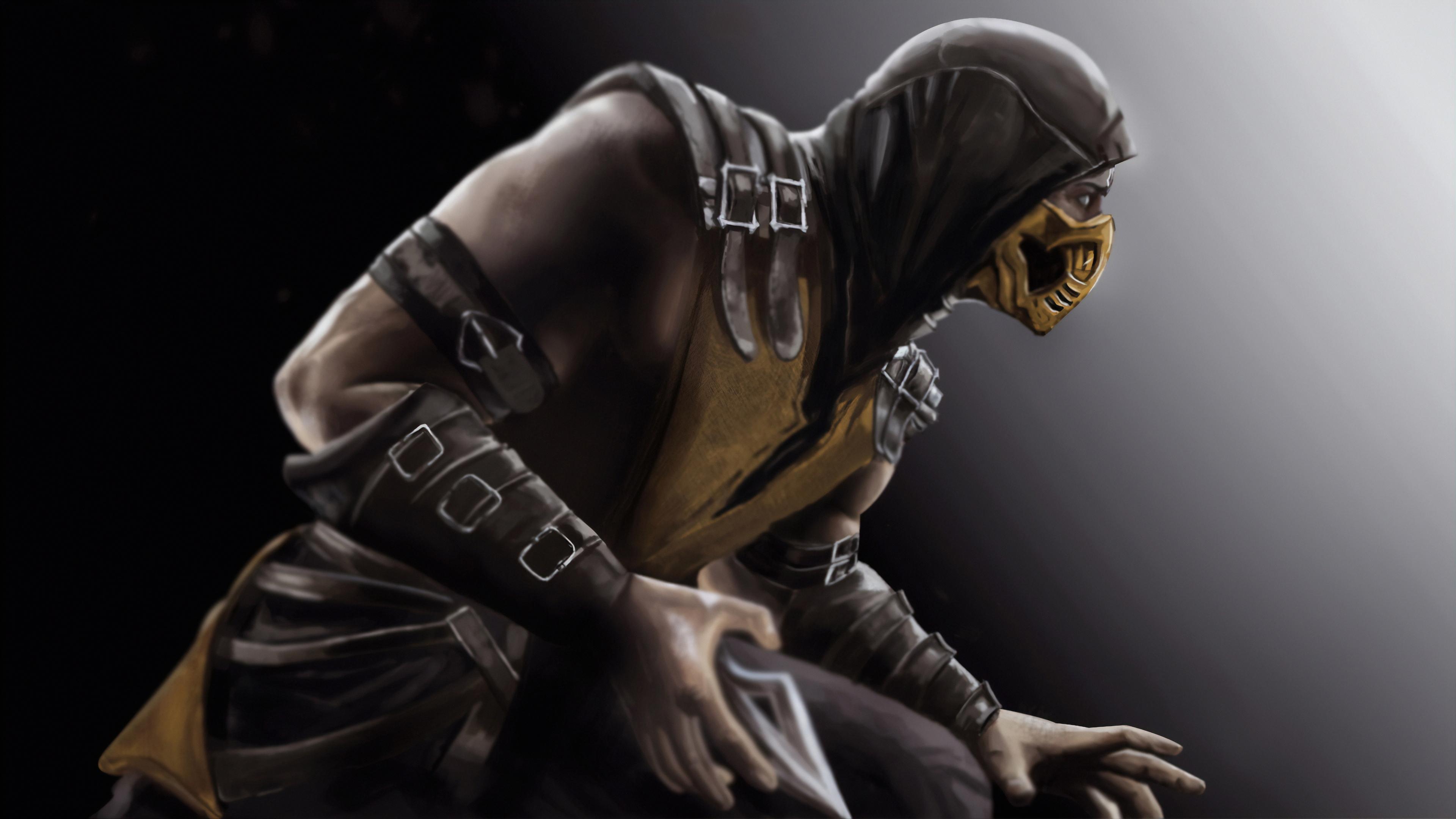 Wallpaper 4k Scorpion Mortal Kombat X Art 4k Wallpapers Games