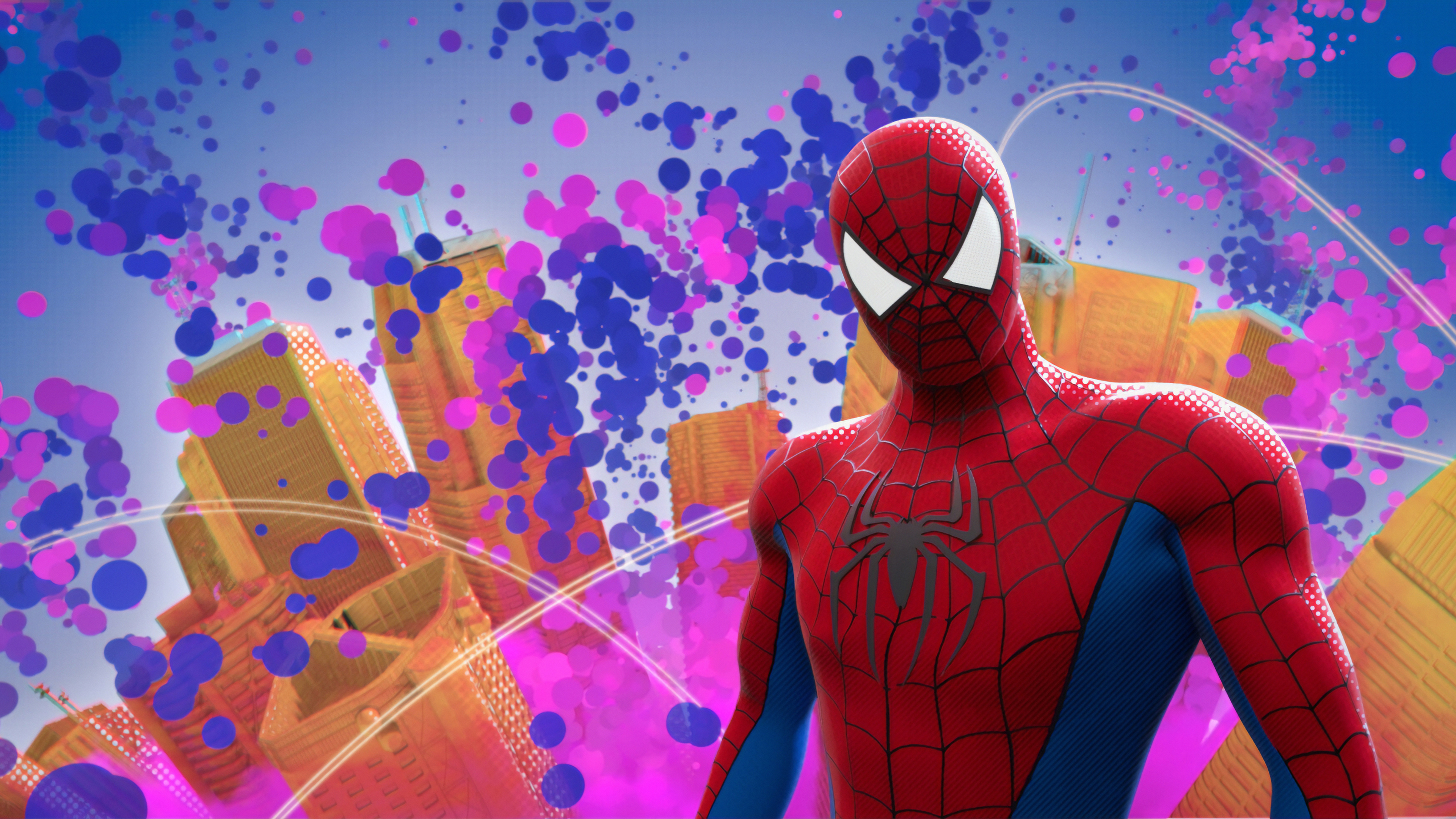 spiderman background colorful 1570394437 - Spiderman Background Colorful - superheroes wallpapers, spiderman wallpapers, hd-wallpapers, digital art wallpapers, artwork wallpapers