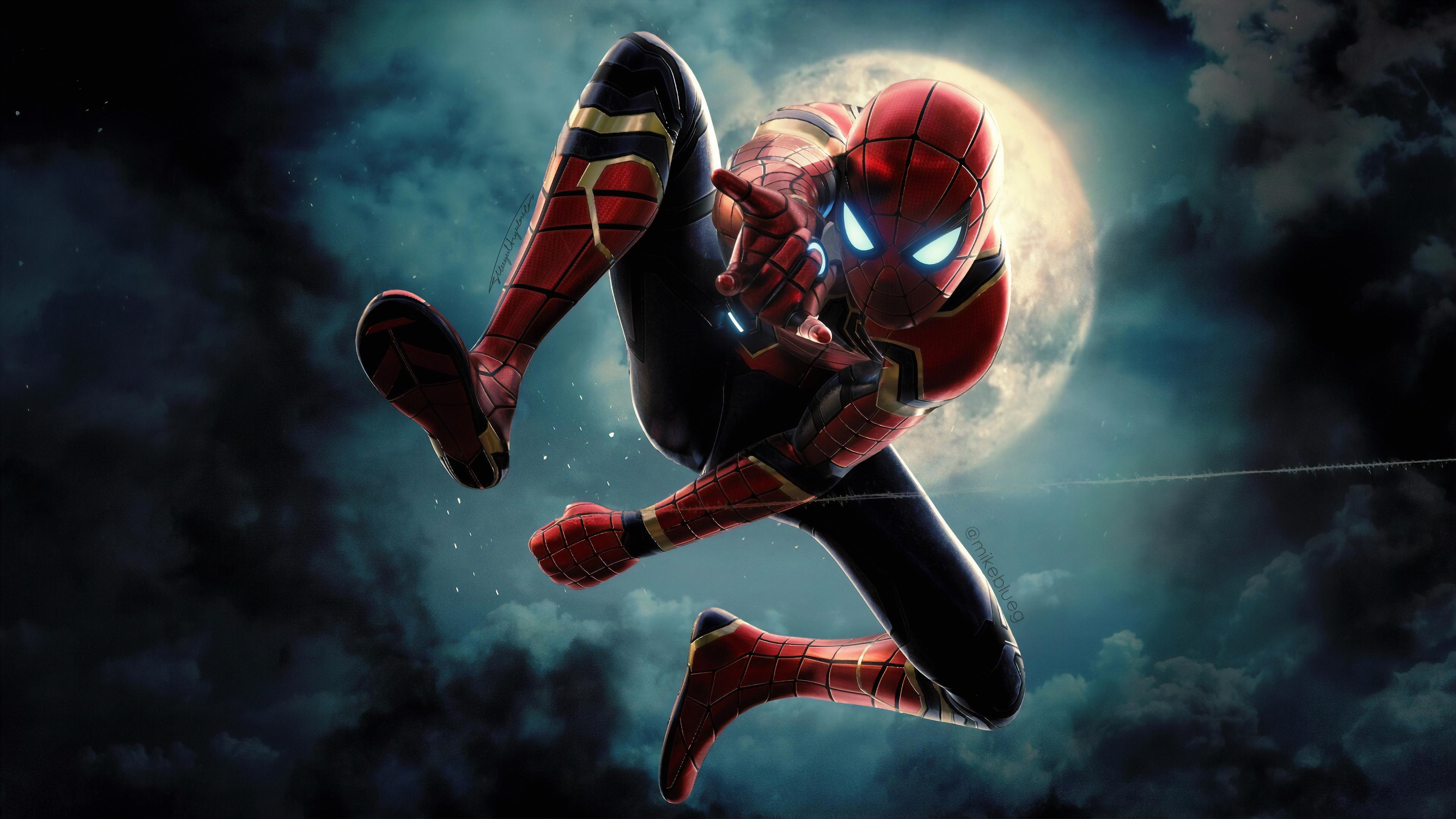 spiderman new 1570918444 - Spiderman New - superheroes wallpapers, spiderman wallpapers, hd-wallpapers, digital art wallpapers, artwork wallpapers, artstation wallpapers, art wallpapers, 4k-wallpapers