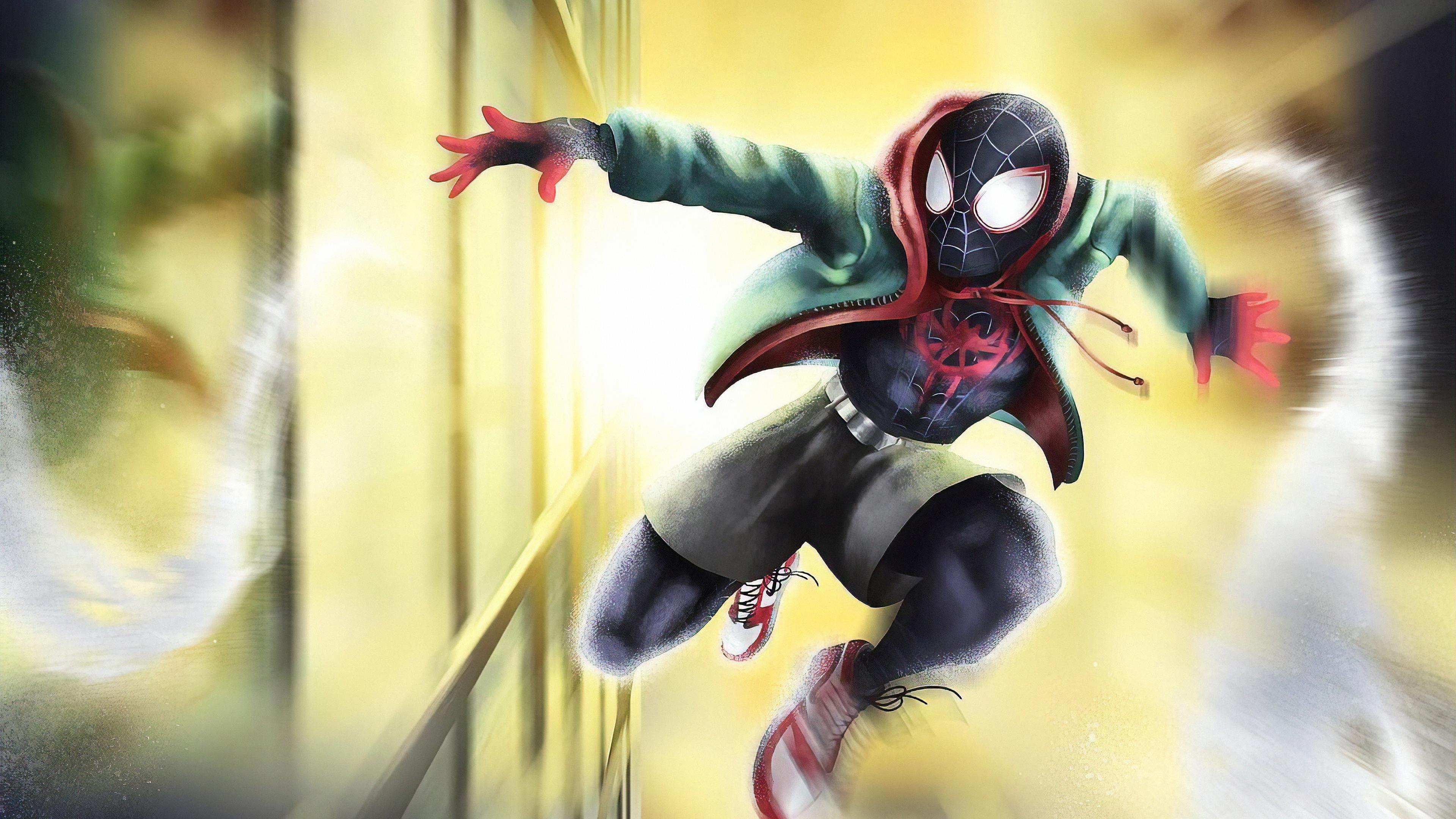spiderman passing by 1572368324 - Spiderman Passing By - superheroes wallpapers, spiderman wallpapers, hd-wallpapers, digital art wallpapers, artwork wallpapers, artstation wallpapers, art wallpapers, 4k-wallpapers