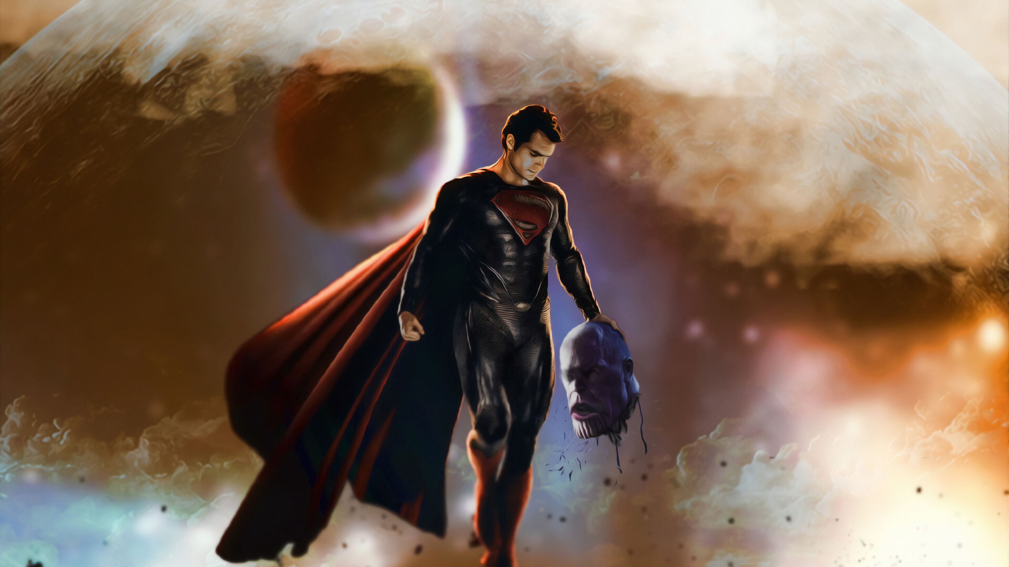 superman thanos head off 1570918379 - Superman Thanos Head Off - superman wallpapers, superheroes wallpapers, hd-wallpapers, artwork wallpapers, artstation wallpapers, 4k-wallpapers