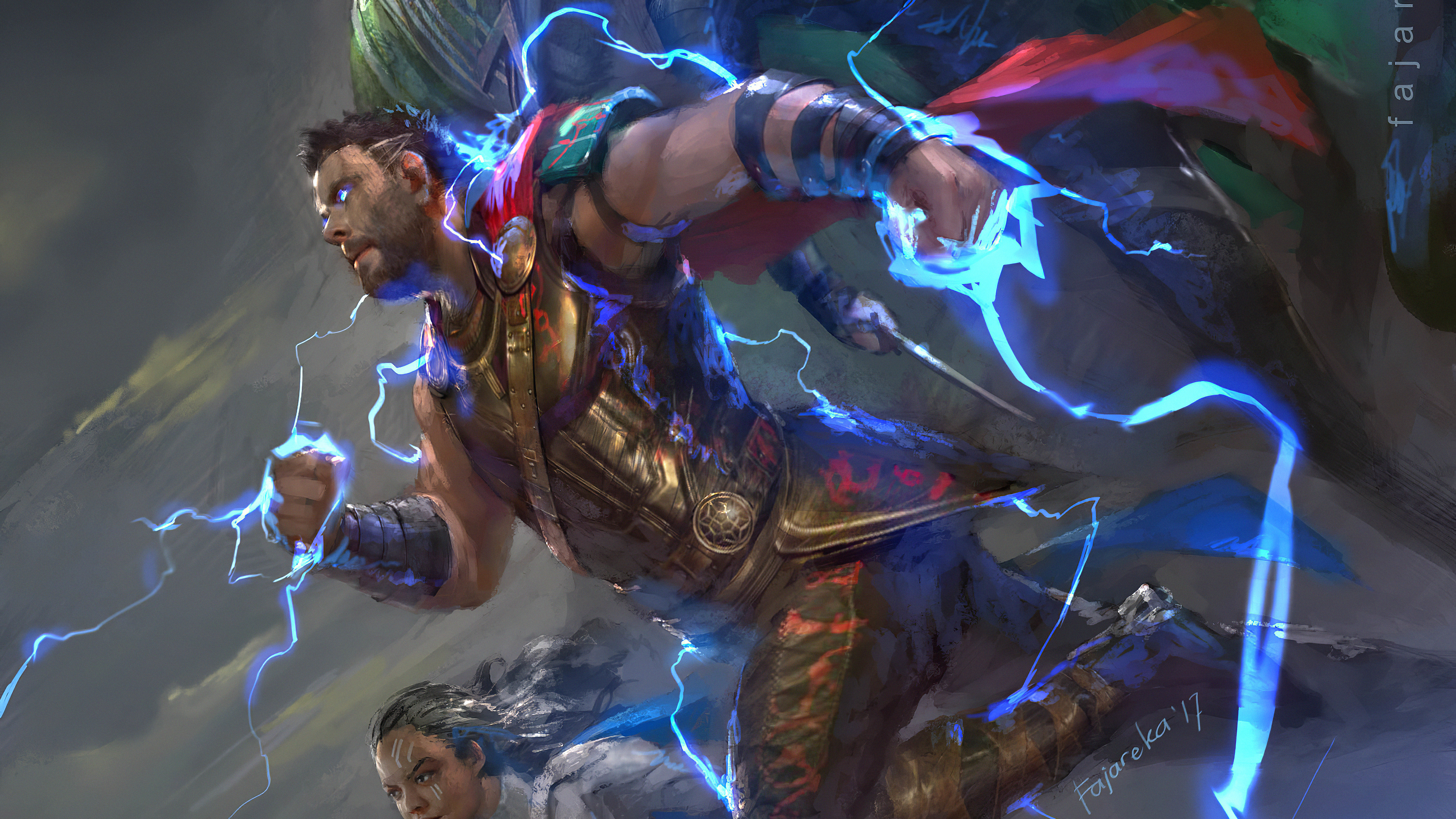 thor new 1572368606 - Thor New - thor wallpapers, superheroes wallpapers, hd-wallpapers, digital art wallpapers, artwork wallpapers, artstation wallpapers, 4k-wallpapers