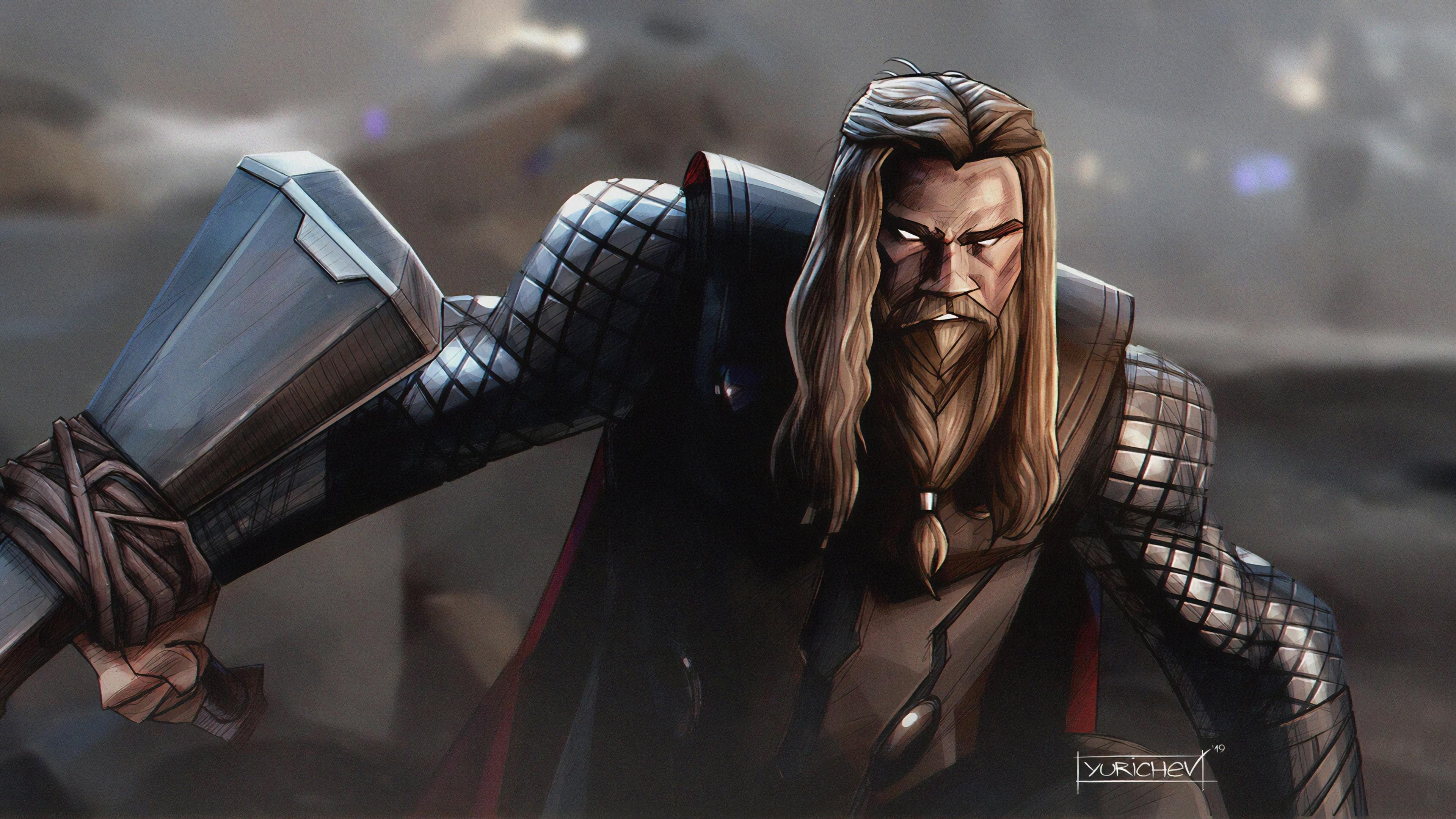 thor with stormbreaker 1570394253 - Thor With Stormbreaker - thor wallpapers, superheroes wallpapers, hd-wallpapers, digital art wallpapers, artwork wallpapers, 4k-wallpapers