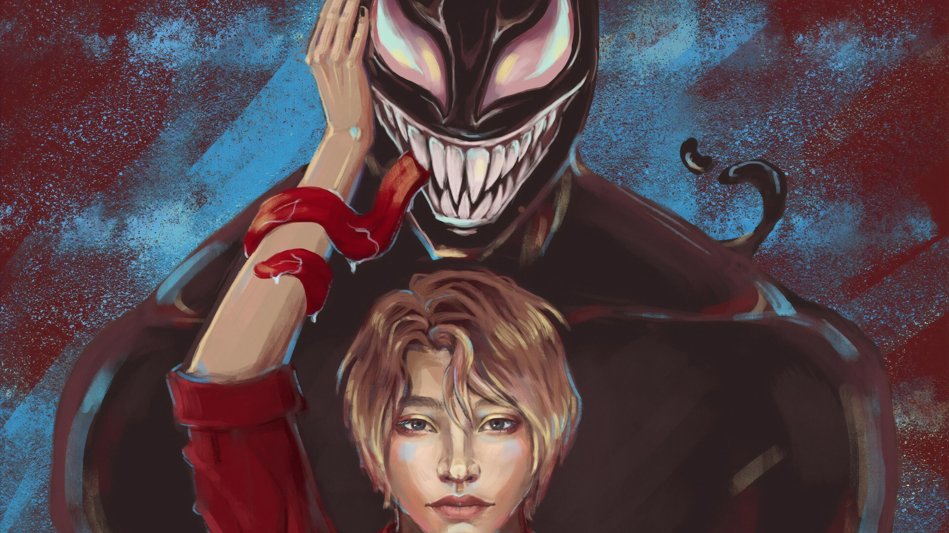 venom with his girl 1570394496 - Venom With His Girl - Venom wallpapers, superheroes wallpapers, hd-wallpapers, digital art wallpapers, behance wallpapers, artwork wallpapers, 4k-wallpapers
