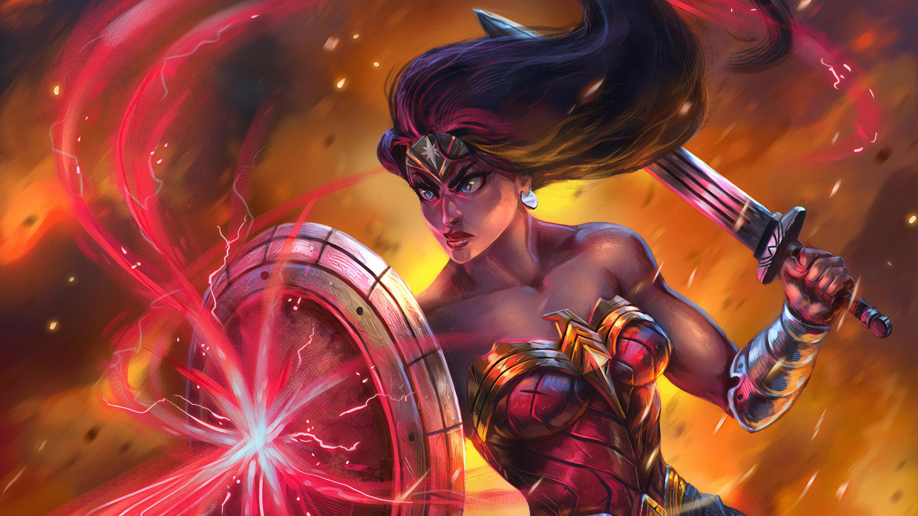 wonder woman about to ready 1570394737 - Wonder Woman About To Ready - wonder woman wallpapers, superheroes wallpapers, hd-wallpapers, digital art wallpapers, artwork wallpapers, artstation wallpapers, 4k-wallpapers