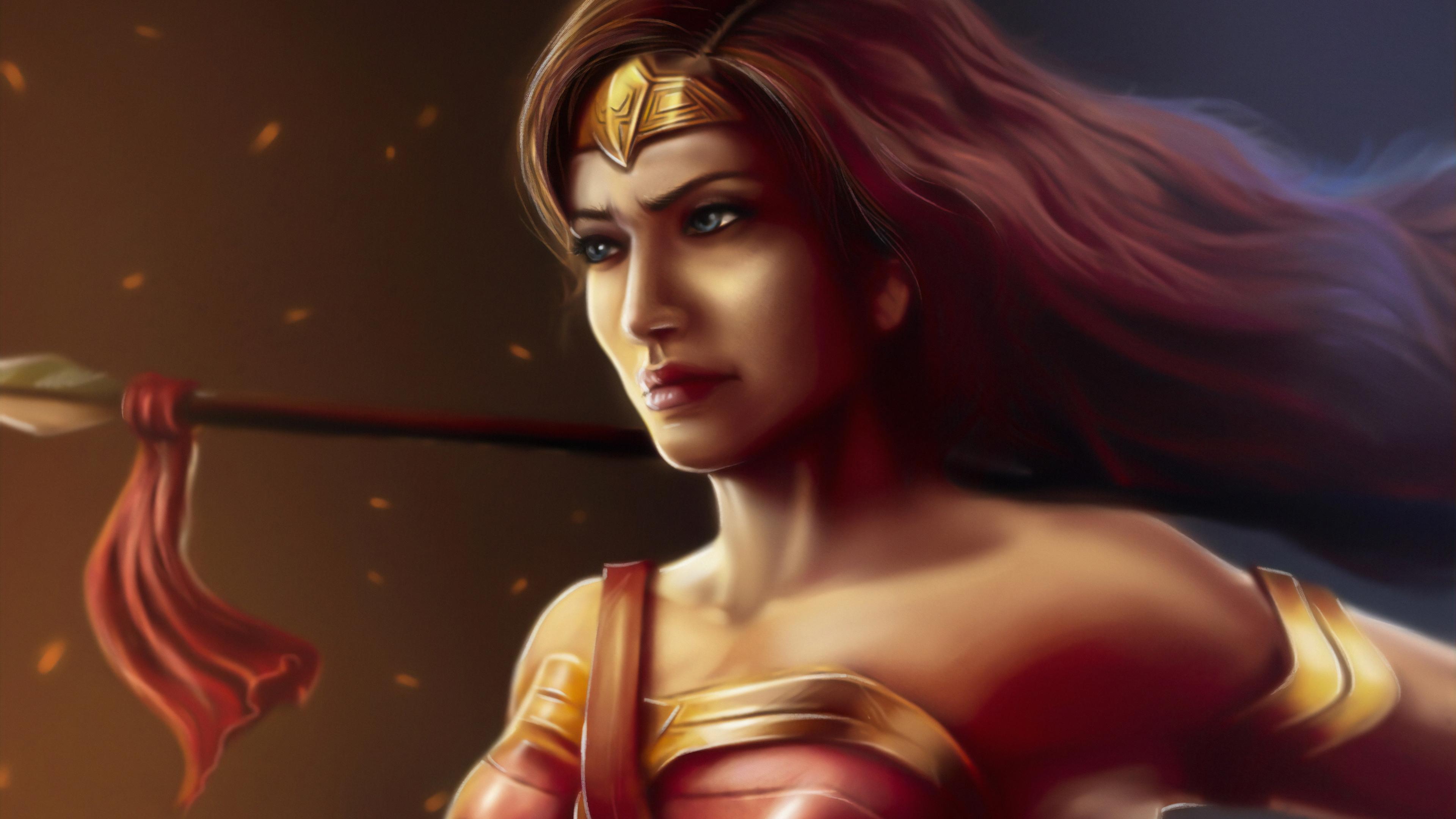 wonder woman ready to fight 1570393988 - Wonder Woman Ready To Fight - wonder woman wallpapers, superheroes wallpapers, hd-wallpapers, digital art wallpapers, artwork wallpapers, artstation wallpapers, 4k-wallpapers