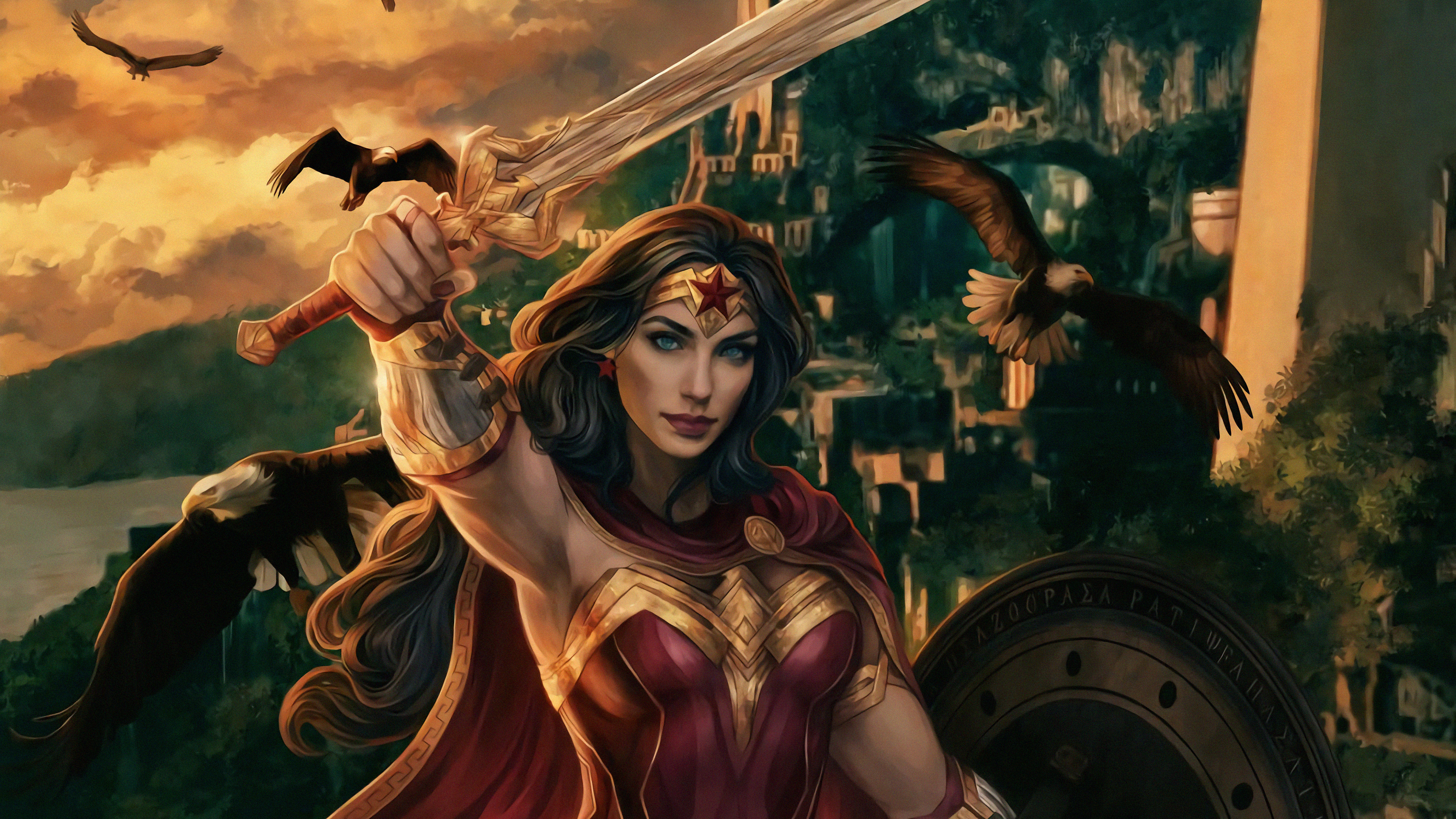 wonder woman real warrior art 1570394807 - Wonder Woman Real Warrior Art - wonder woman wallpapers, superheroes wallpapers, hd-wallpapers, digital art wallpapers, deviantart wallpapers, artwork wallpapers, artist wallpapers, 4k-wallpapers