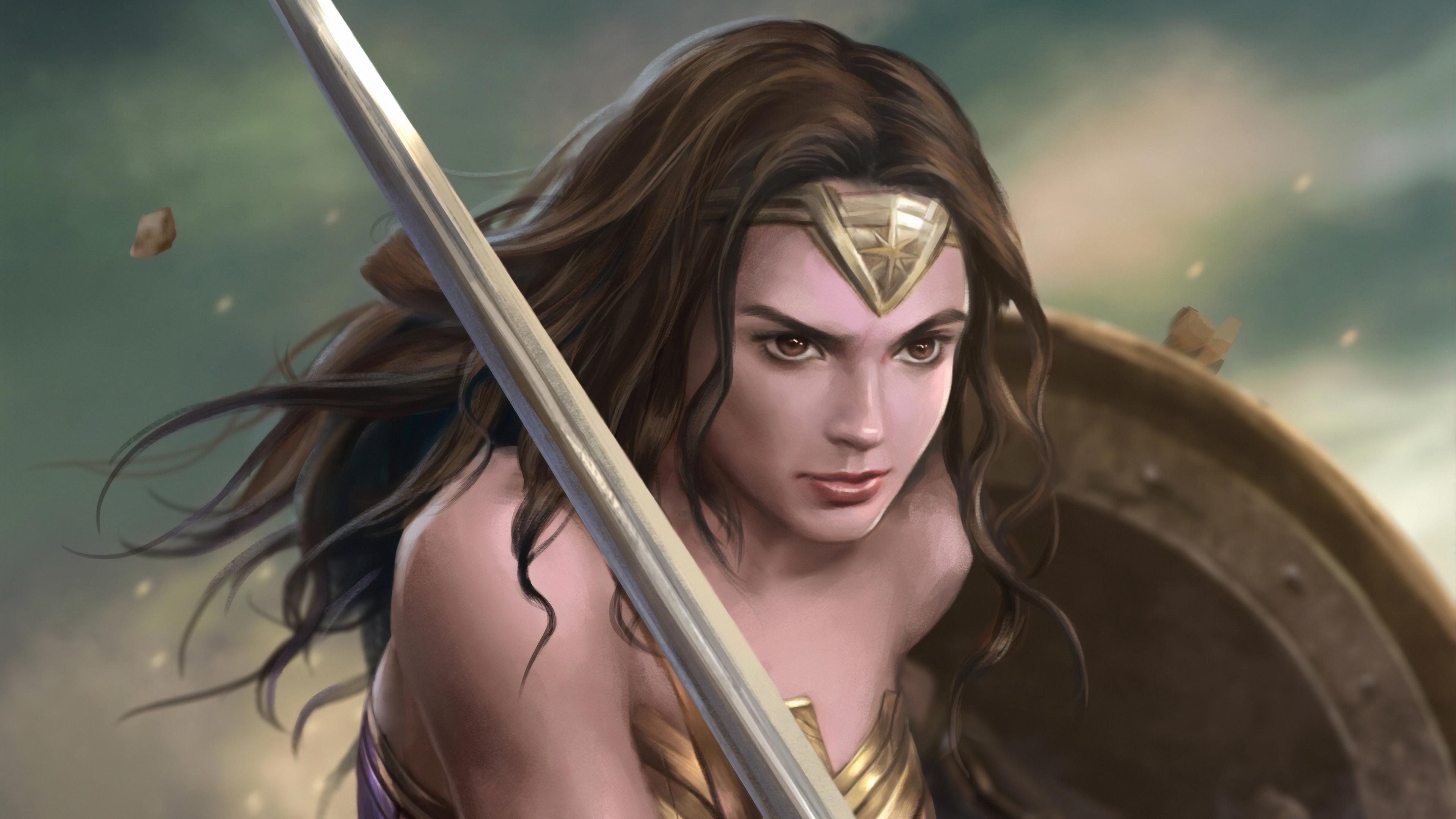 wonder woman warrior art 1570394162 - Wonder Woman Warrior Art - wonder woman wallpapers, superheroes wallpapers, hd-wallpapers, digital art wallpapers, artwork wallpapers, artstation wallpapers, 4k-wallpapers