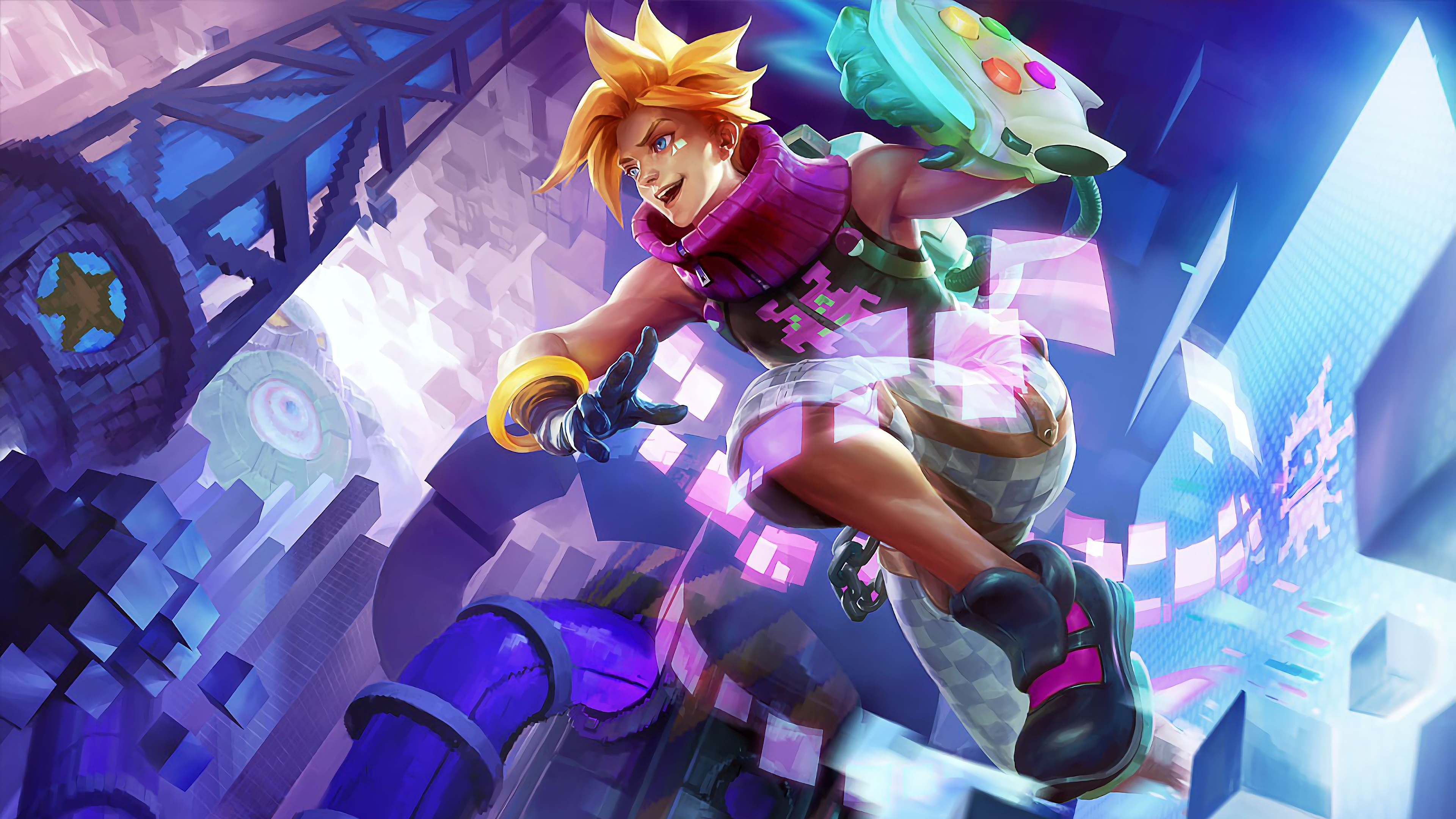 arcade ezreal new spash art rework update skin league of legends lol lol 1574104340 - Arcade Ezreal New Spash Art Rework Update Skin League of Legends LoL lol - league of legends, Ezreal, Arcade - League of Legends