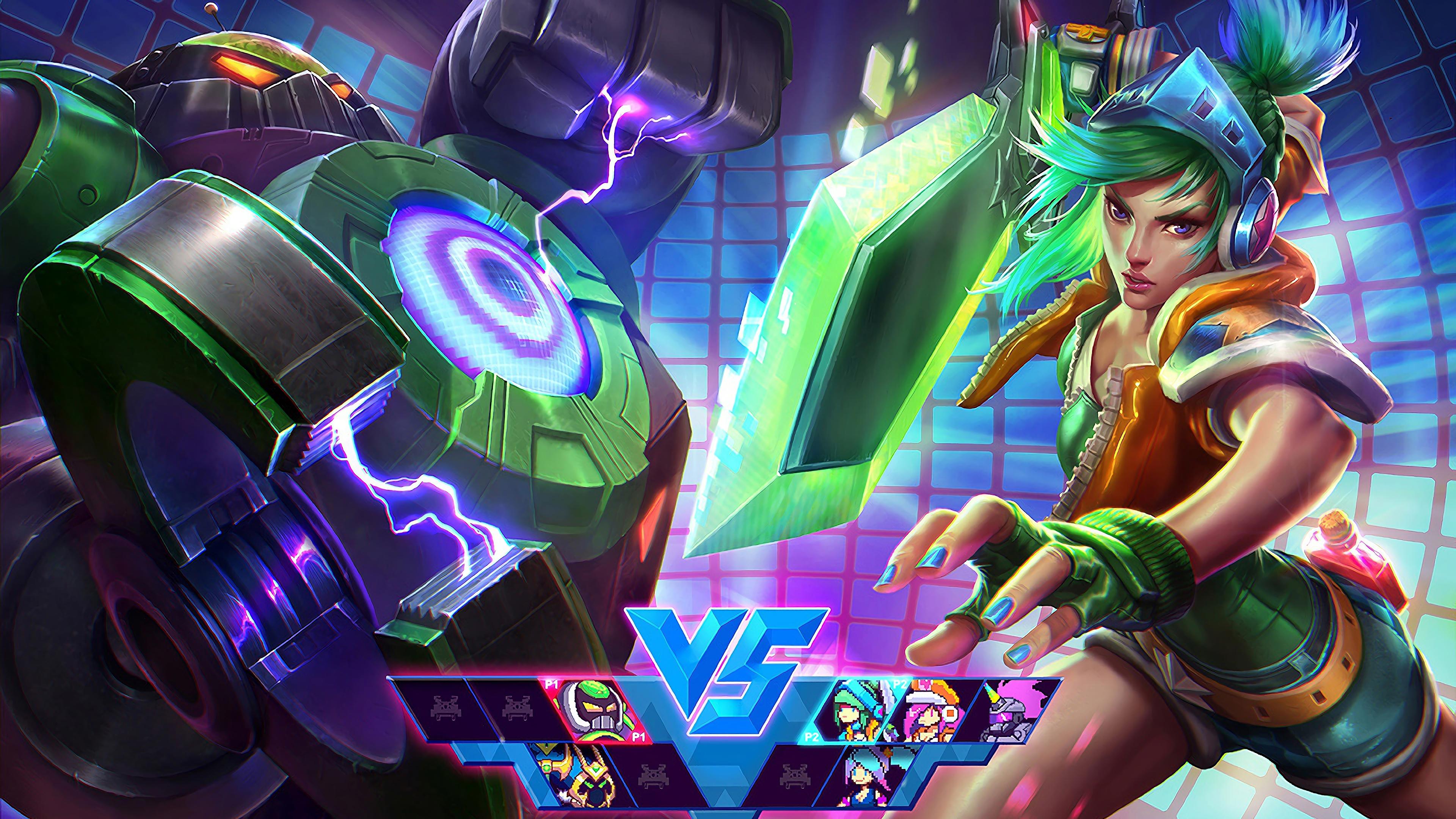 arcade riven blitzcrank lol splash art league of legends 1574100346 - Arcade Riven Blitzcrank LoL Splash Art League of Legends - Riven, league of legends, Blitzcrank, Arcade - League of Legends