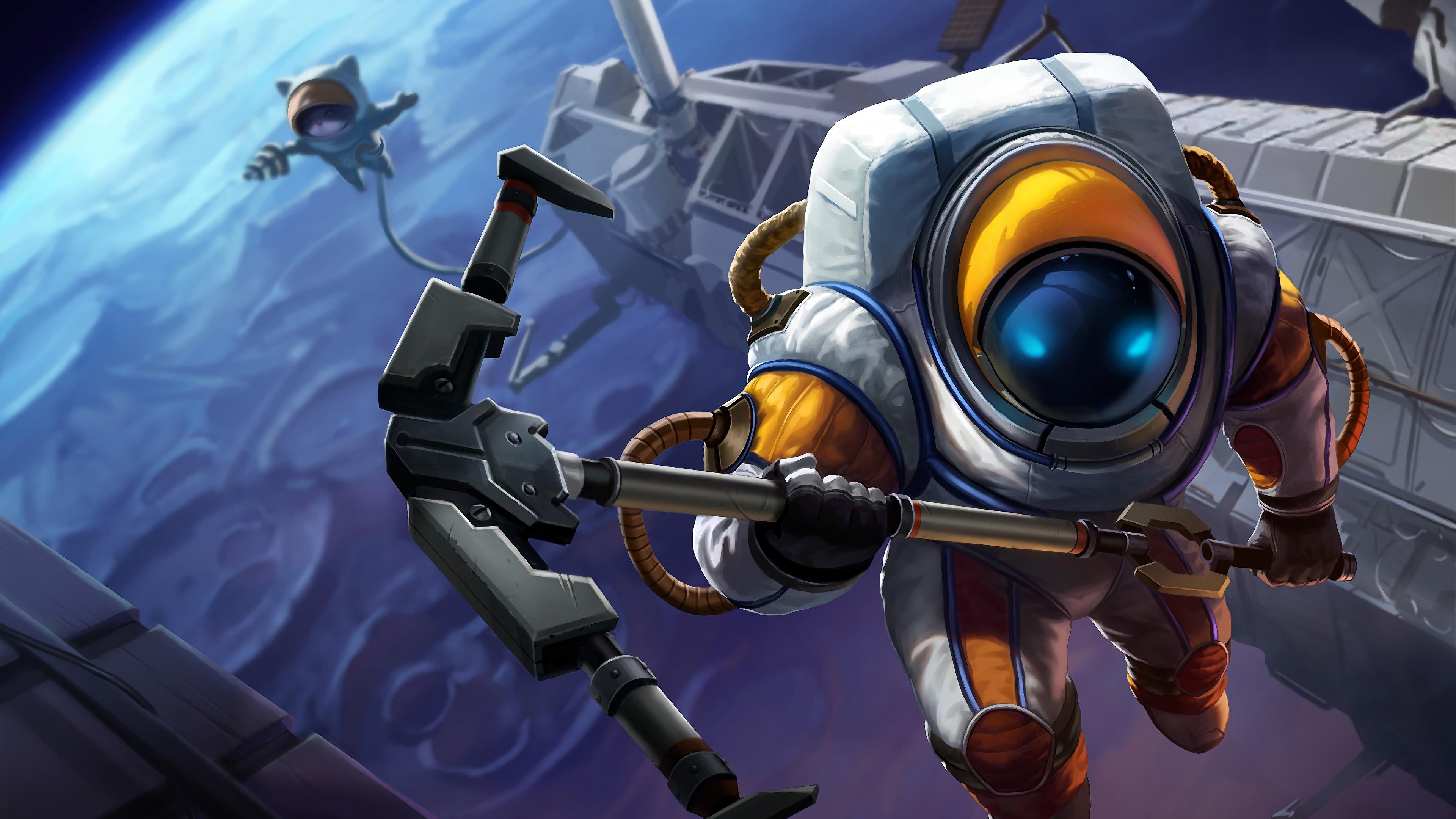 astronaut nautilus lol splash art league of legends 1574100358 - Astronaut Nautilus LoL Splash Art League of Legends - Nautilus, league of legends