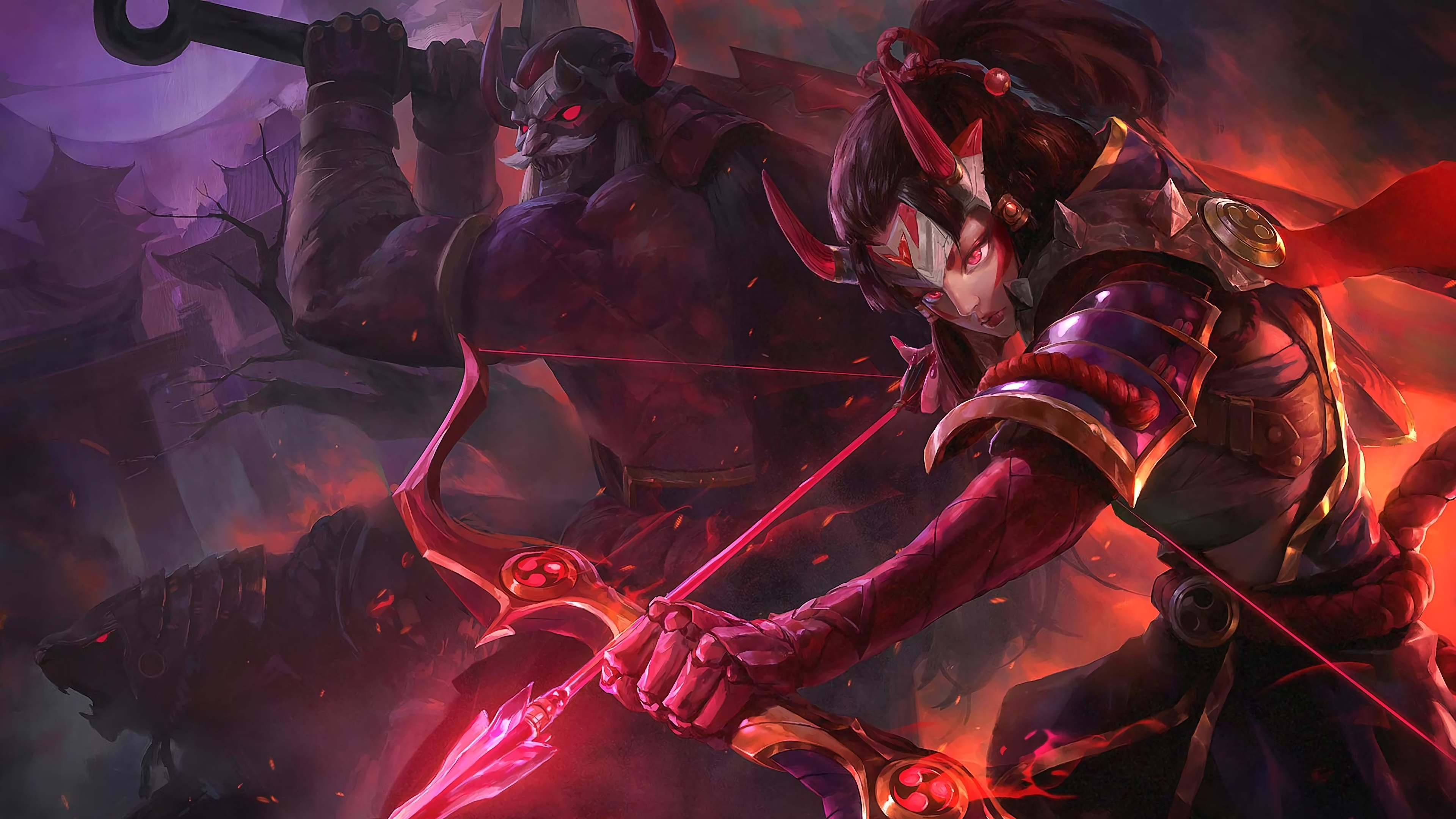blood moon ashe and tryndamere lol league of legends lol 1574103013 - Blood Moon Ashe and  Tryndamere LoL League of Legends lol - Tryndamere, league of legends, Blood Moon - League of Legends, Ashe