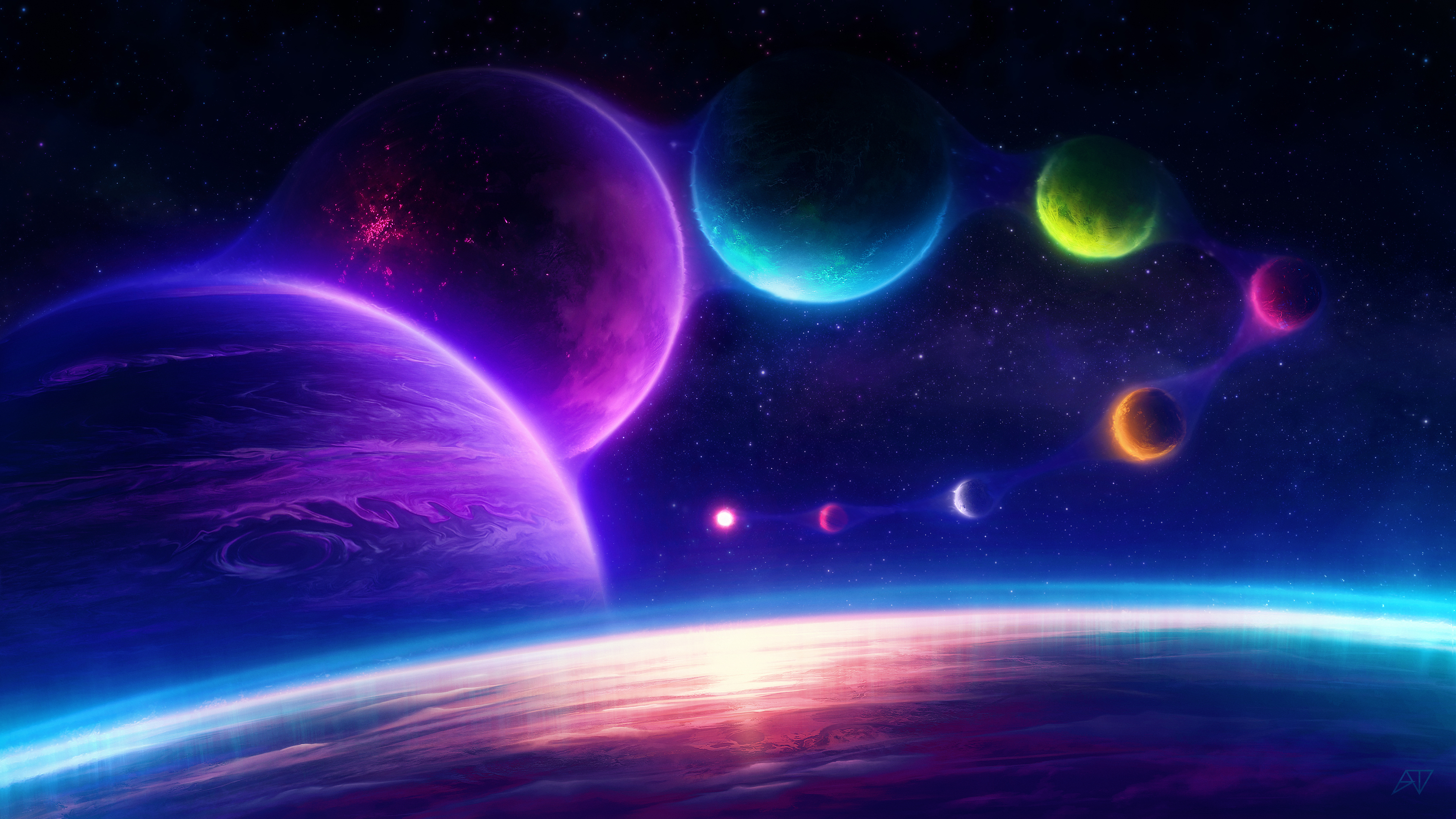 colorful planets chill scifi pink 1574943203 - Colorful Planets Chill Scifi Pink -