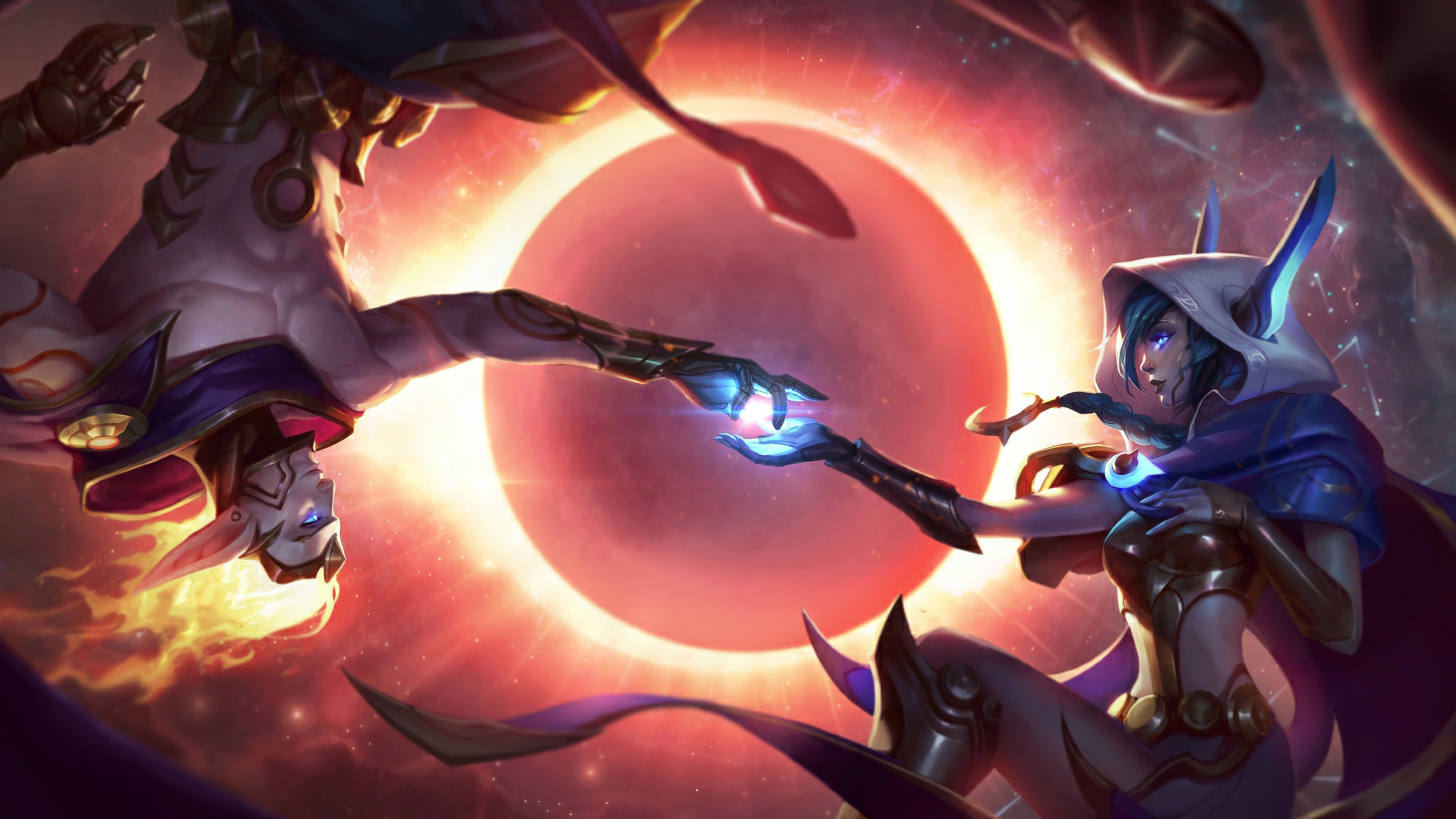 cosmic dusk xayah and cosmic dawn rakan lol splash art league of legends 1574099726 - Cosmic Dusk Xayah and  Cosmic Dawn Rakan LoL Splash Art League of Legends - Xayah, Rakan, league of legends, Cosmic - League of Legends